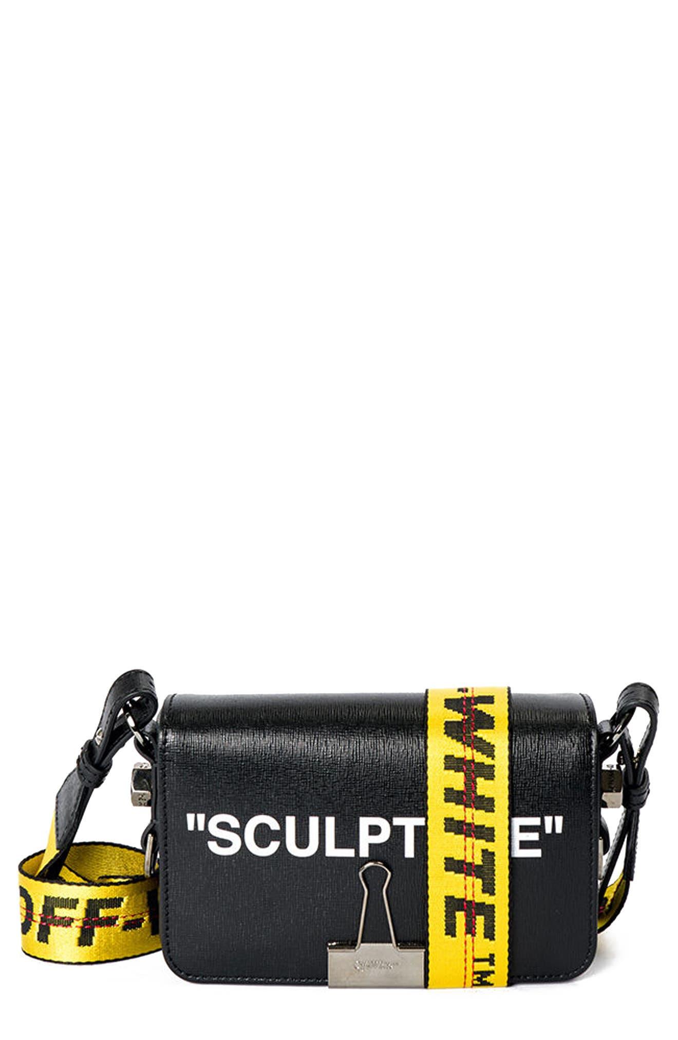 Sculpture Mini Flap Bag, Main, color, 001