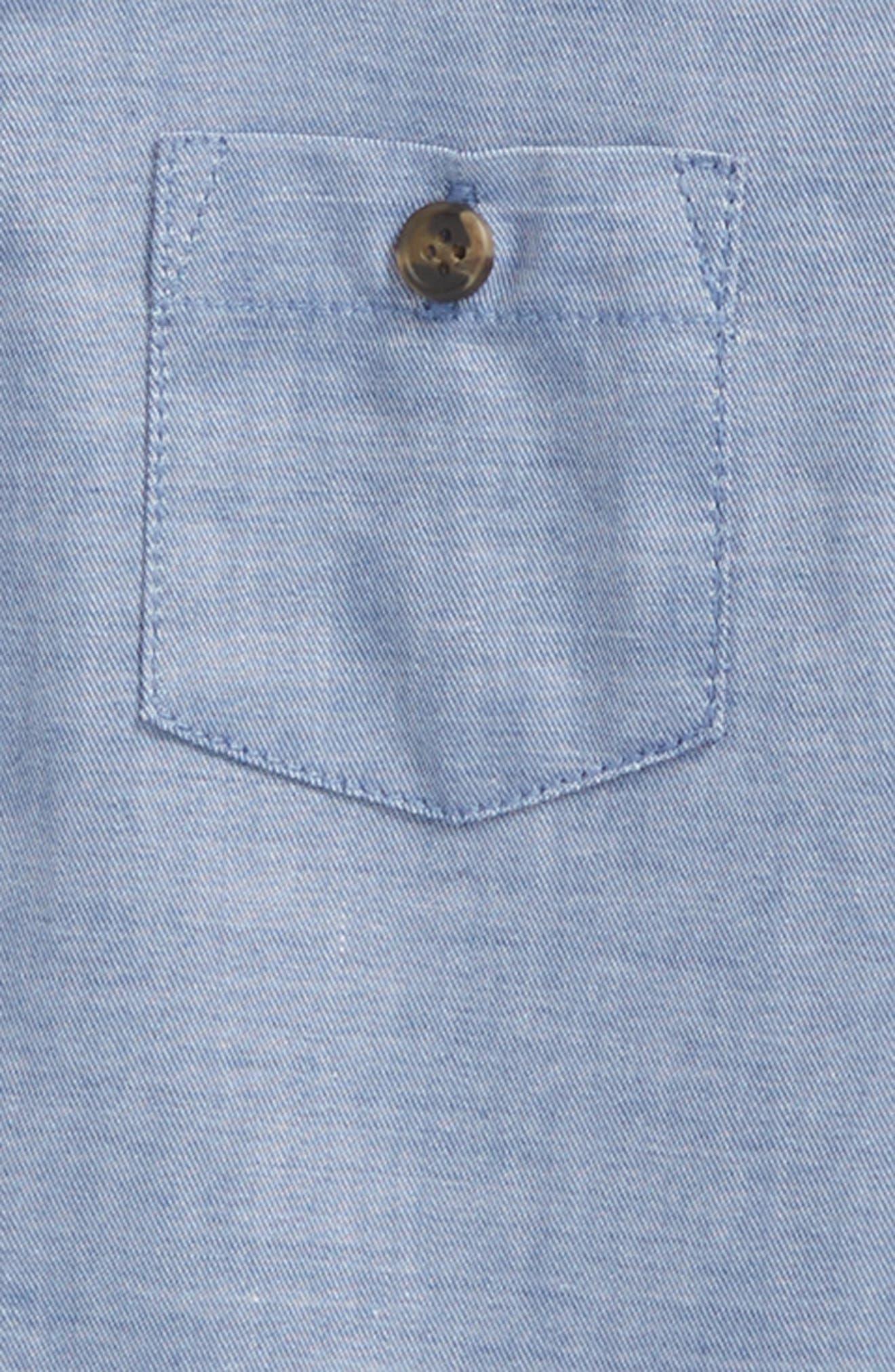 Grow Chambray Pocket Bodysuit,                             Alternate thumbnail 2, color,                             457