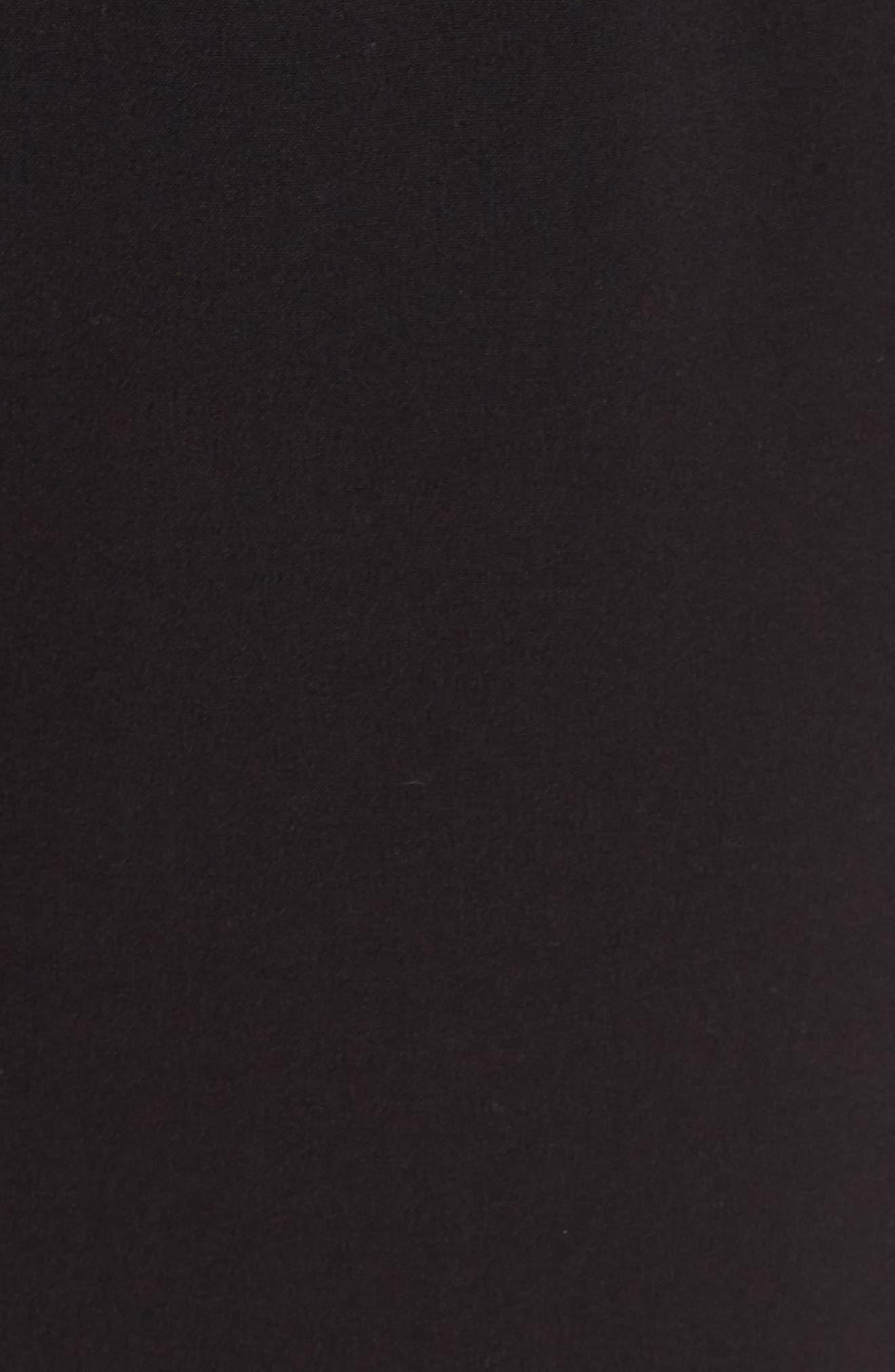 Stretch Peplum Waist Jumpsuit,                             Alternate thumbnail 6, color,                             BLACK