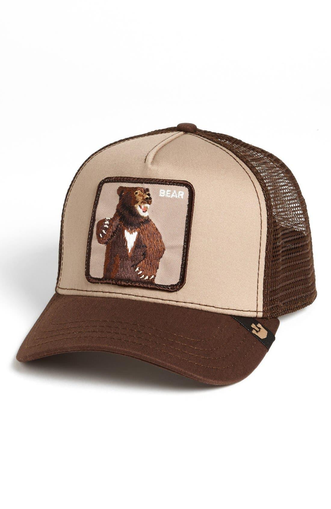 GOORIN BROTHERS 'Animal Farm - Lone Star Bear' Trucker Hat, Main, color, 201