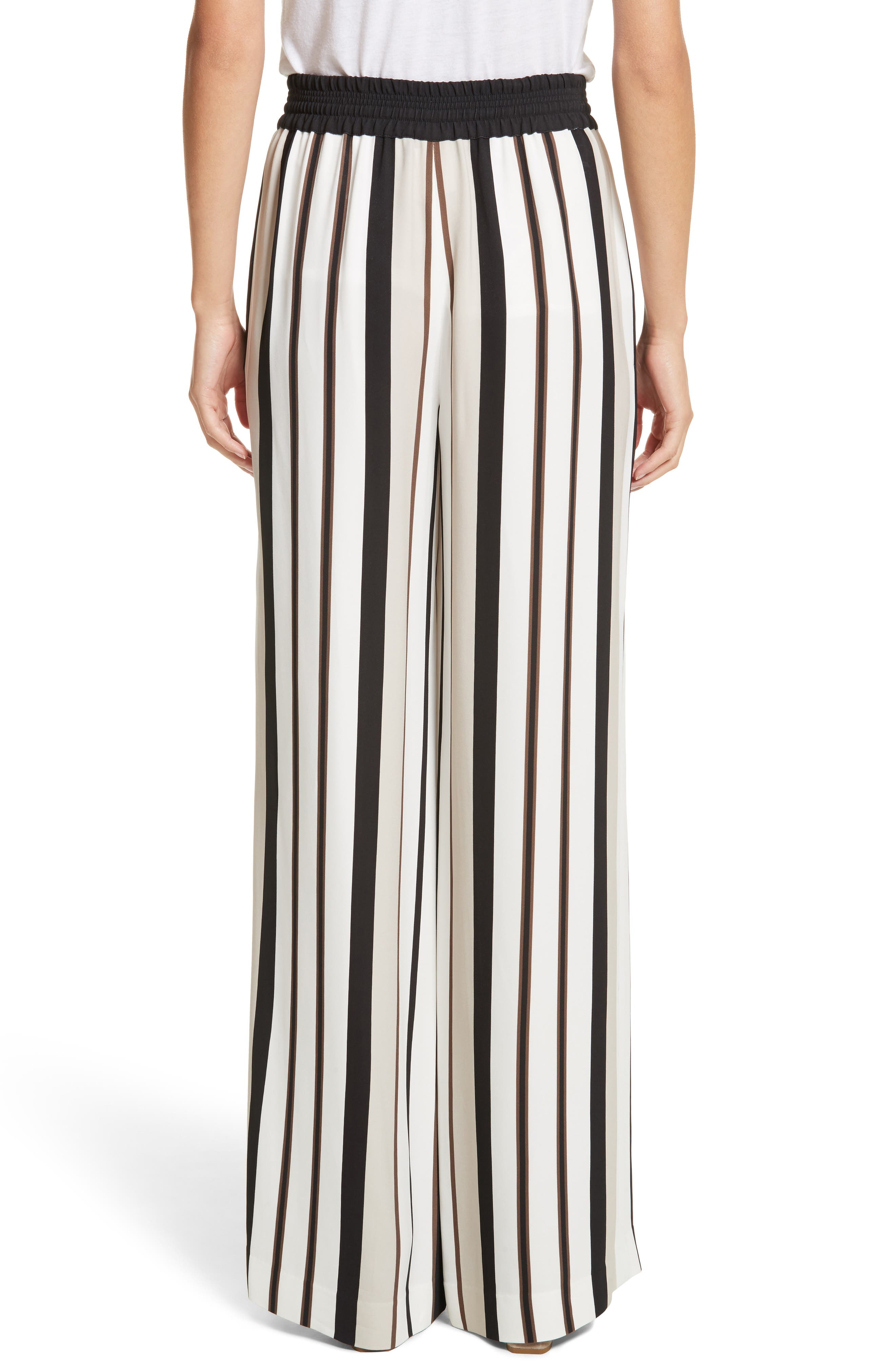 LAFAYETTE 148 NEW YORK,                             Allen Legacy Stripe Drape Cloth Pants,                             Alternate thumbnail 2, color,                             001
