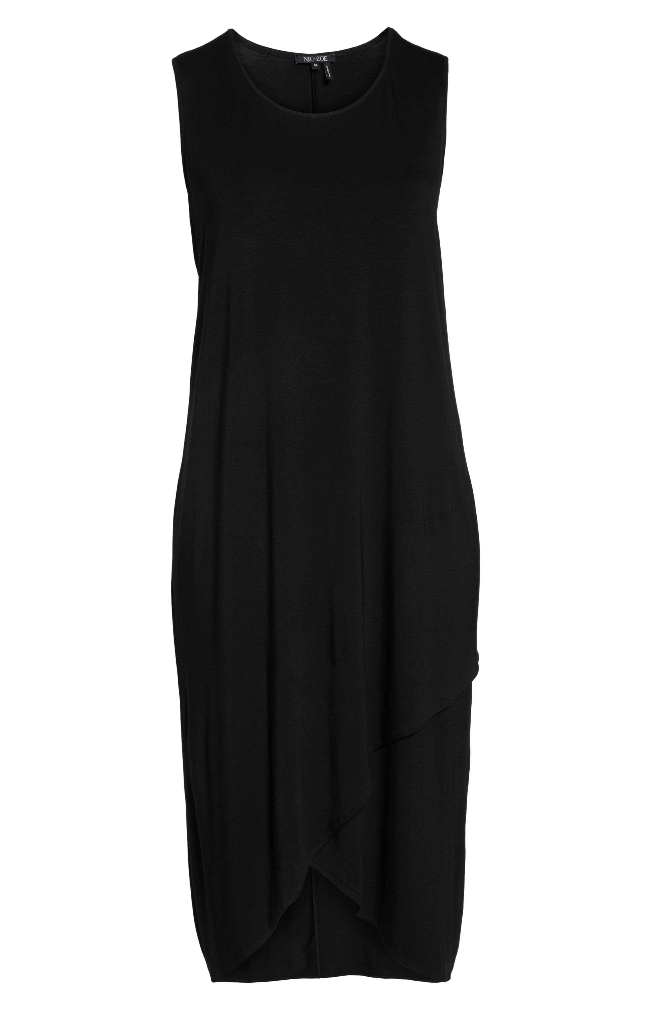 Ease Maxi Dress,                             Alternate thumbnail 7, color,                             BLACK ONYX