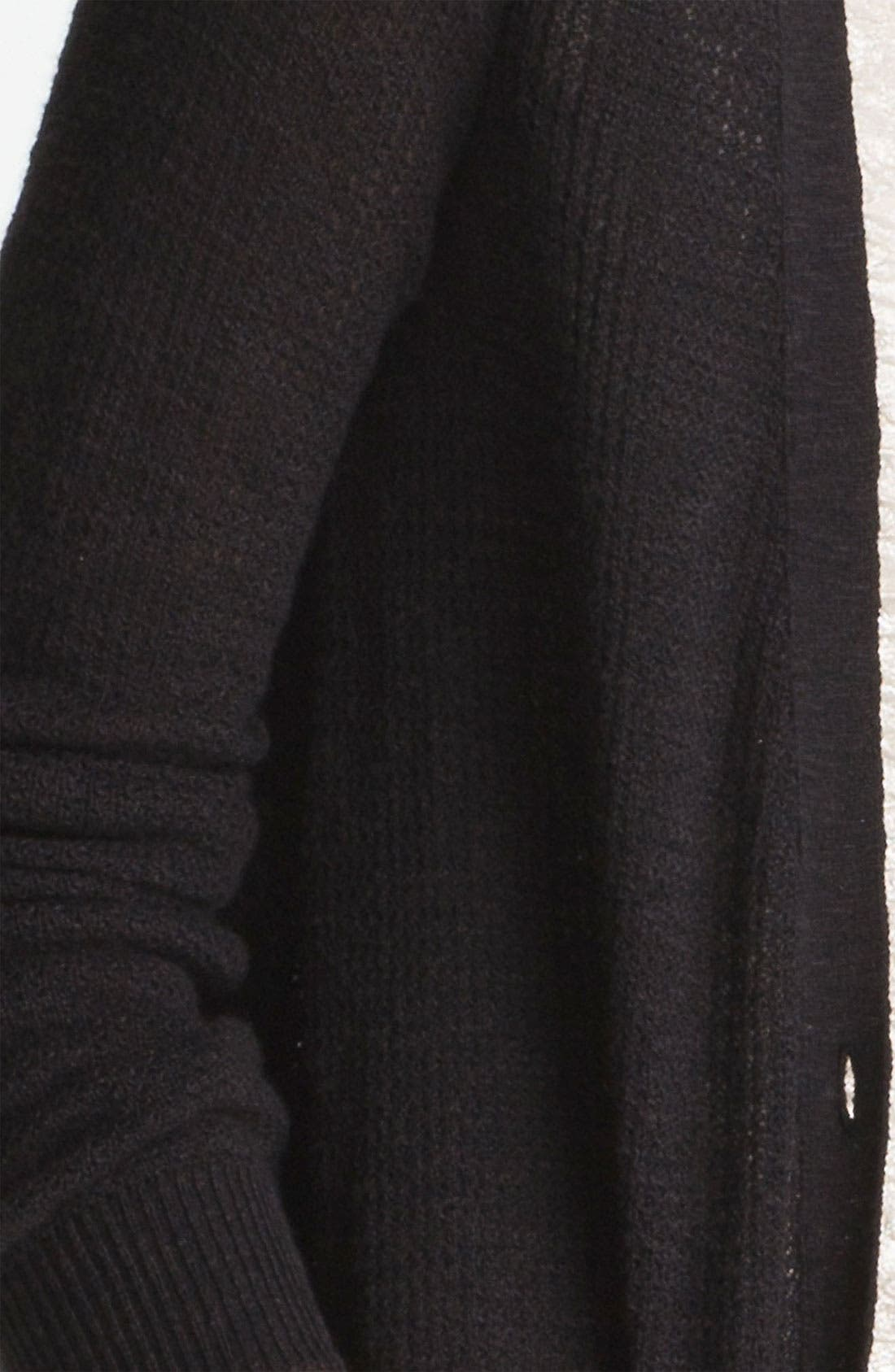 'Smarty' Thermal Cardigan,                             Alternate thumbnail 3, color,                             001
