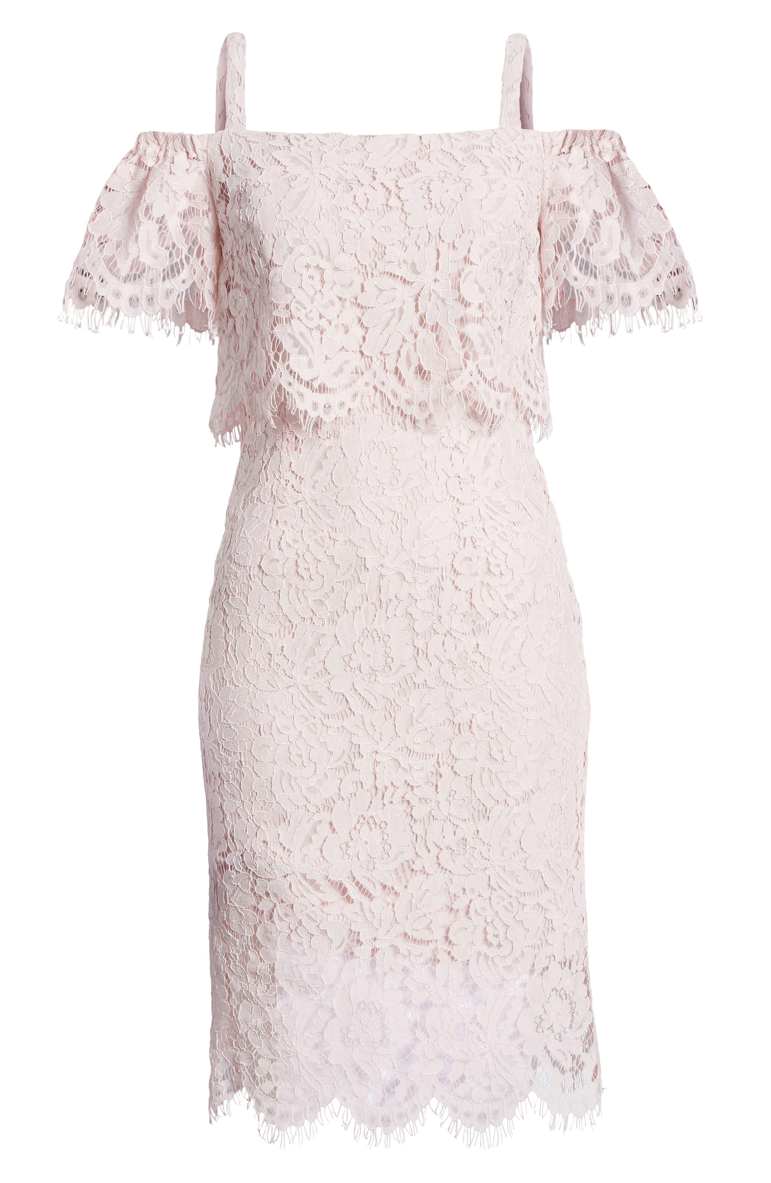 Popover Lace Dress,                             Alternate thumbnail 8, color,                             681