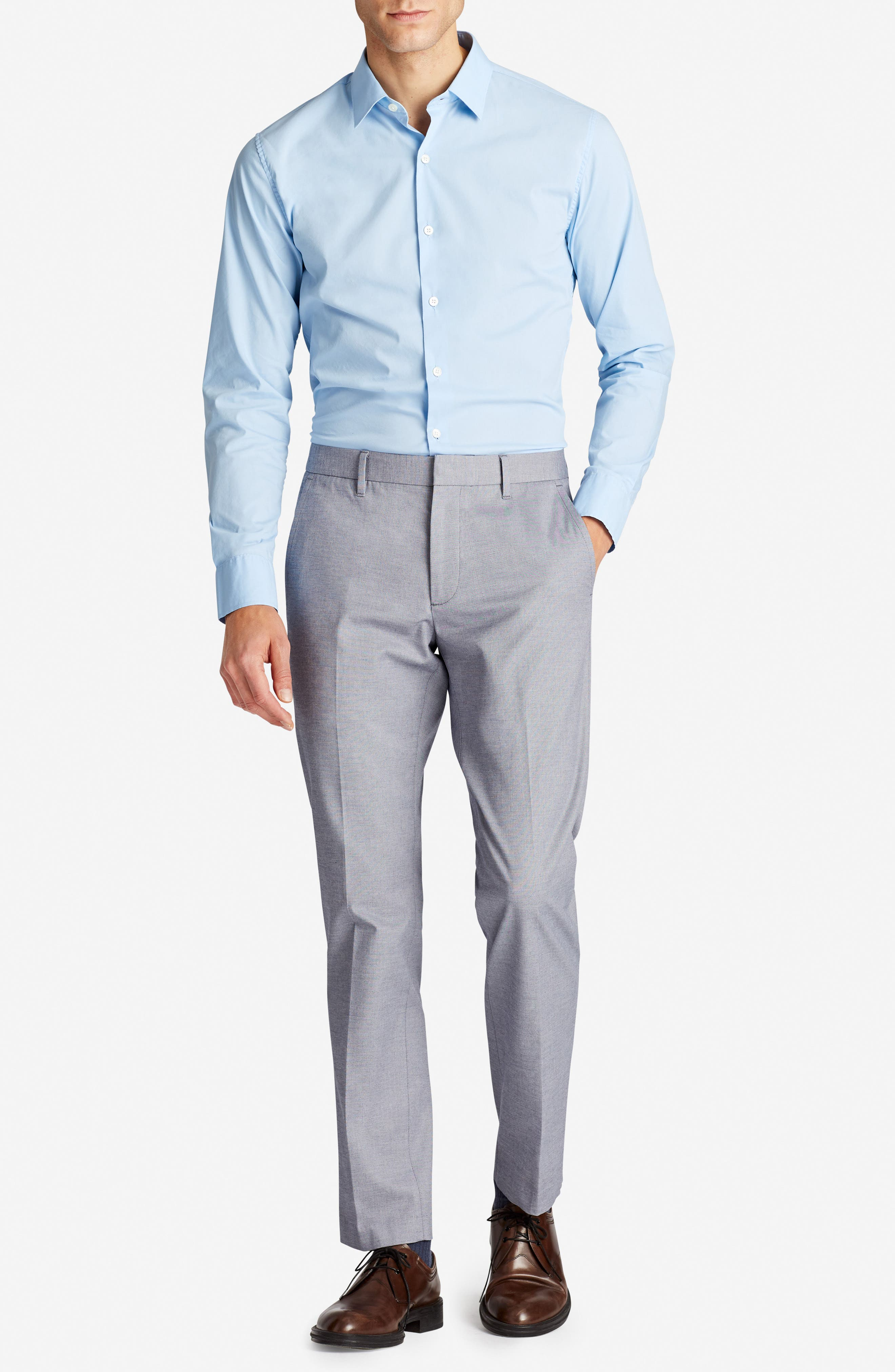 Weekday Warrior Flat Front Stretch Cotton Pants,                             Alternate thumbnail 16, color,