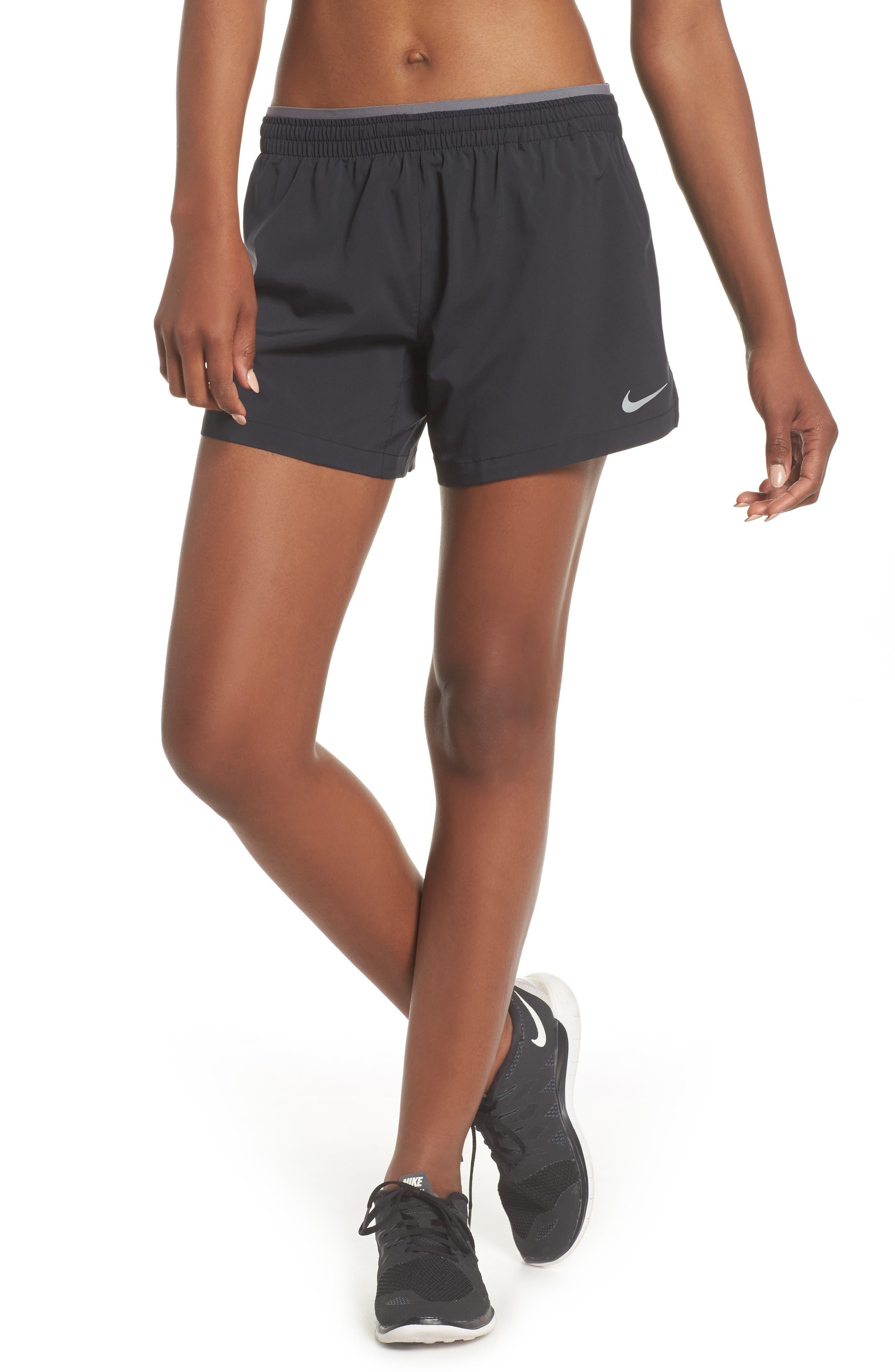 Flex 5-Inch Inseam Running Shorts,                             Main thumbnail 1, color,                             BLACK/ GUNSMOKE