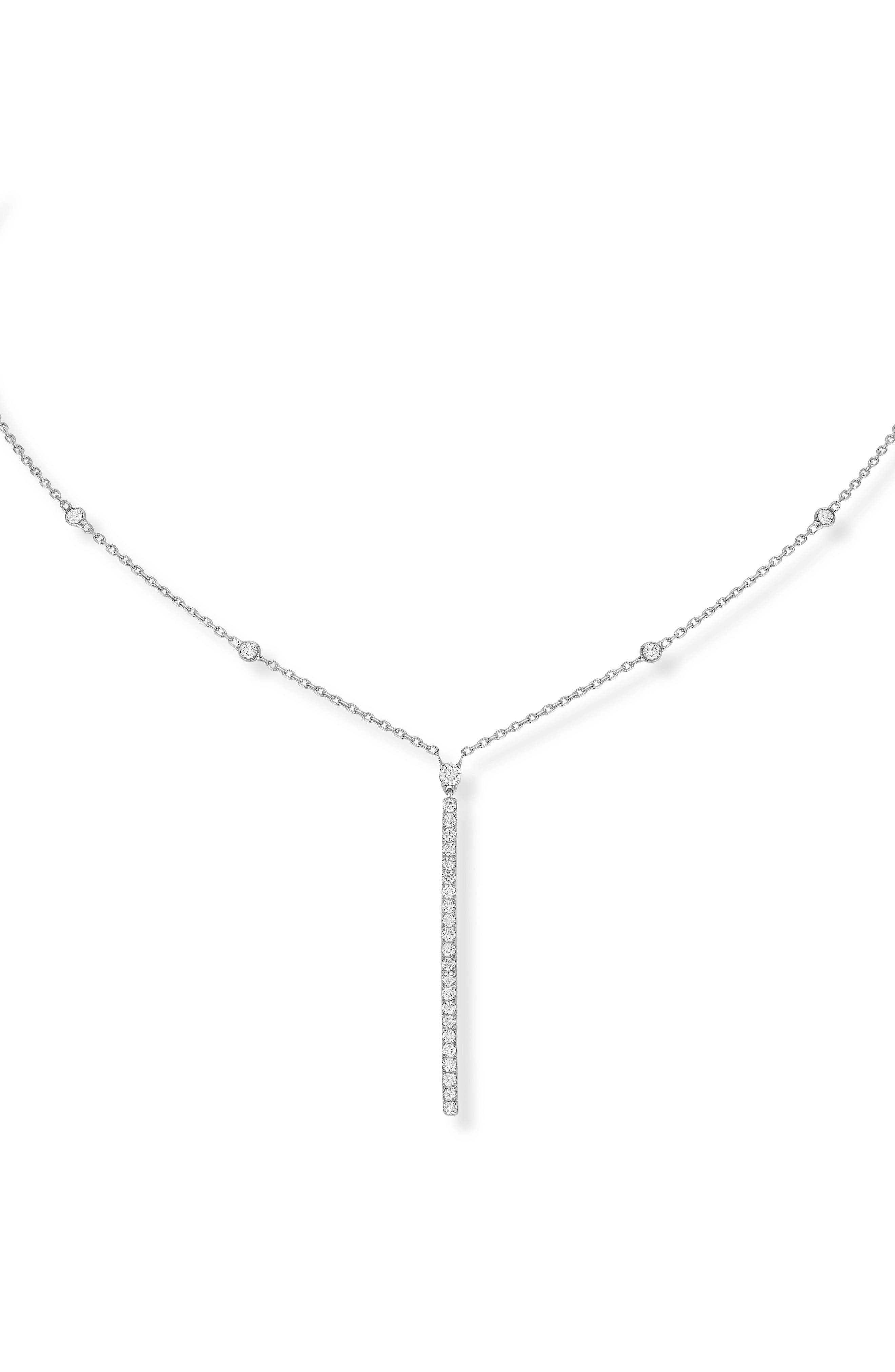 Gatsby Diamond Collar Necklace,                             Main thumbnail 1, color,                             WHITE GOLD