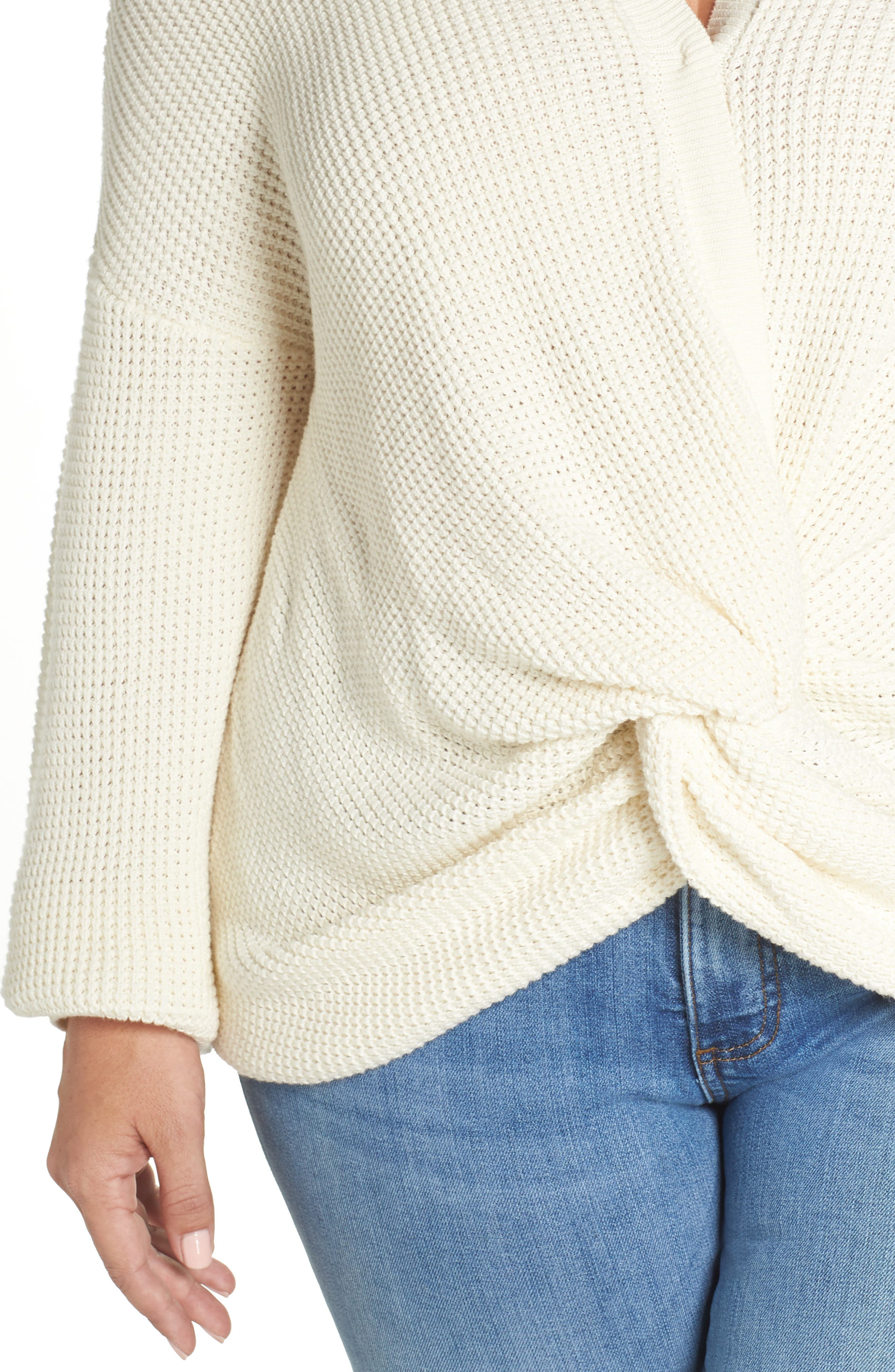 Twist Front Sweater,                             Alternate thumbnail 10, color,                             IVORY