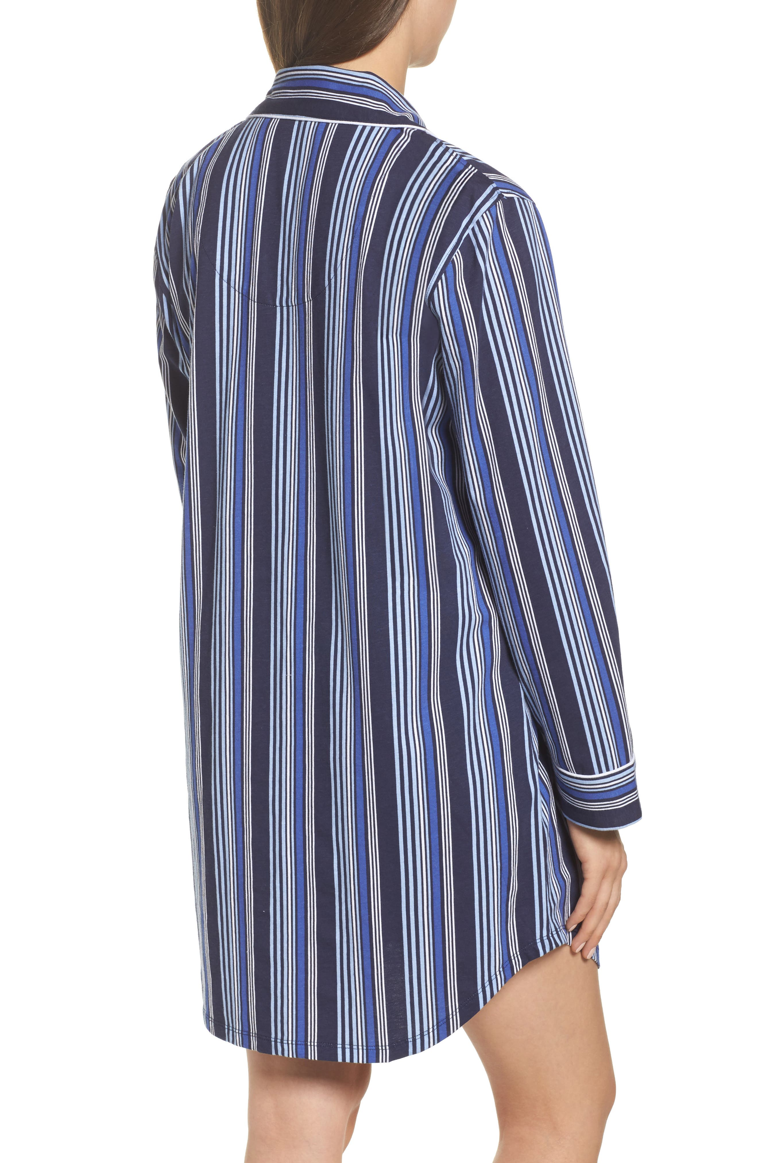 Stripe Sleep Shirt,                             Alternate thumbnail 2, color,                             486