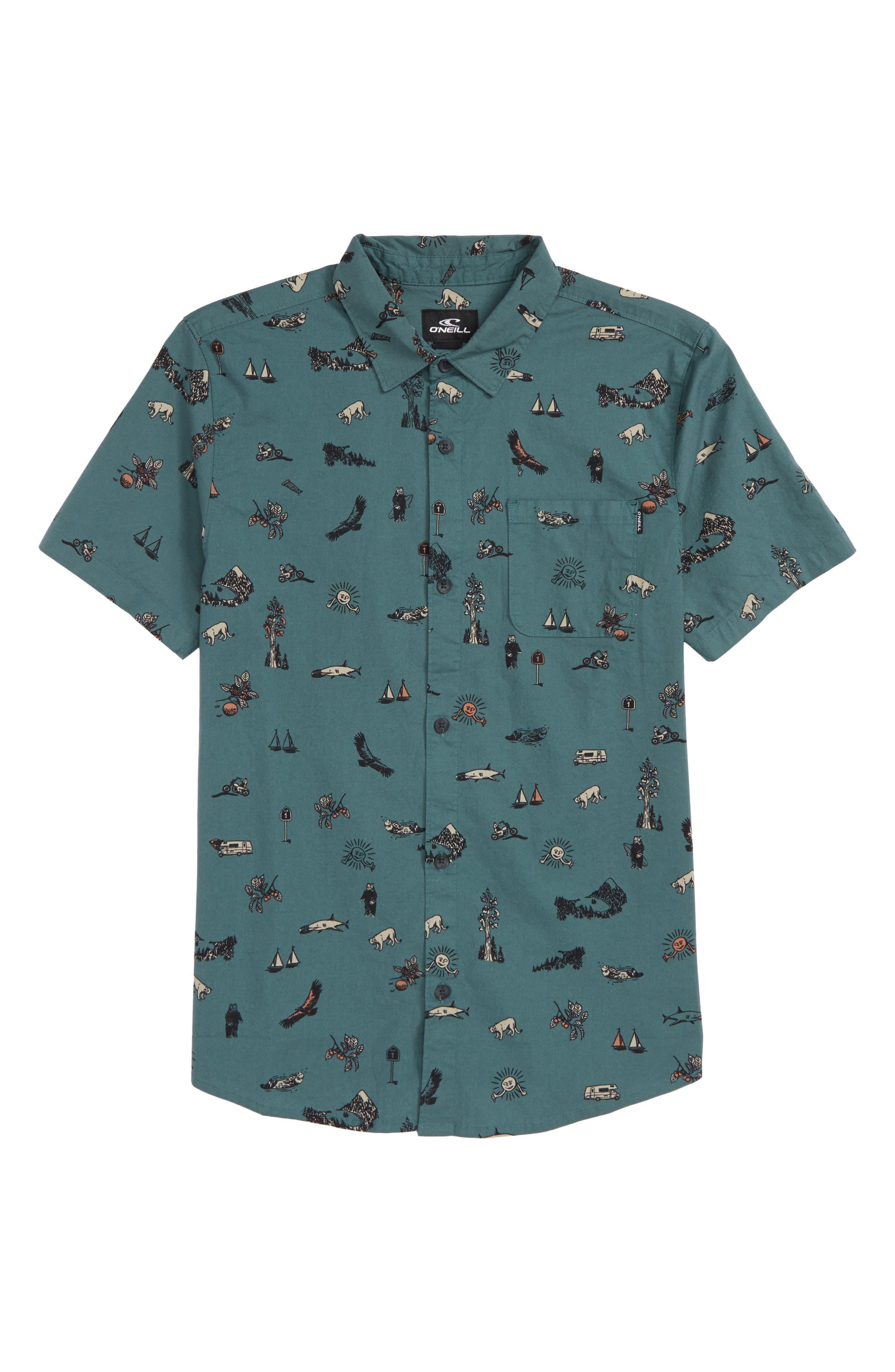 Squawker Woven Shirt,                             Main thumbnail 2, color,
