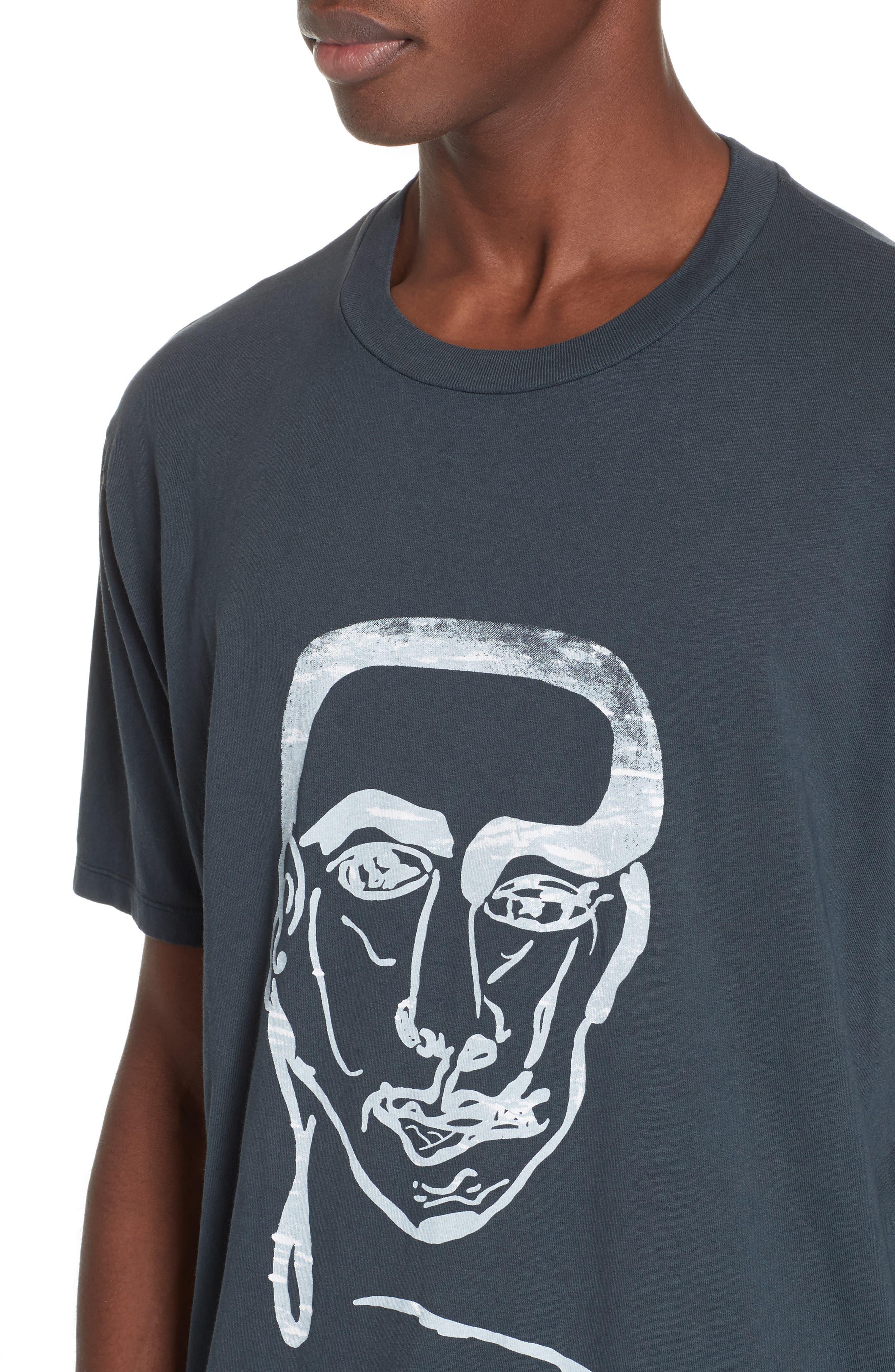 Portrait Graphic Box T-shirt,                             Alternate thumbnail 4, color,                             BLACK