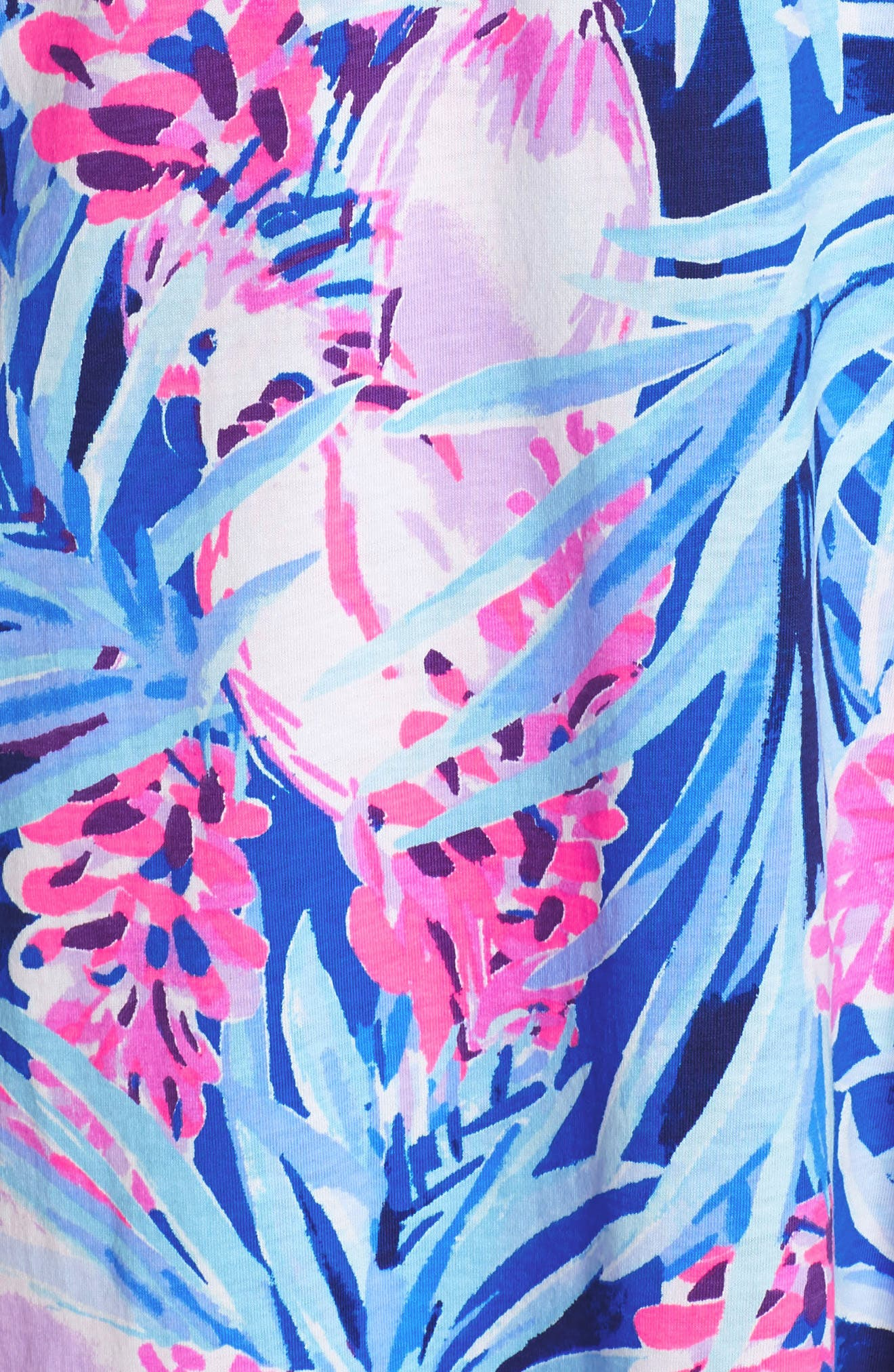 Daphne Shift Dress,                             Alternate thumbnail 6, color,                             MR PEACOCK BLUE TWEETHEARTS