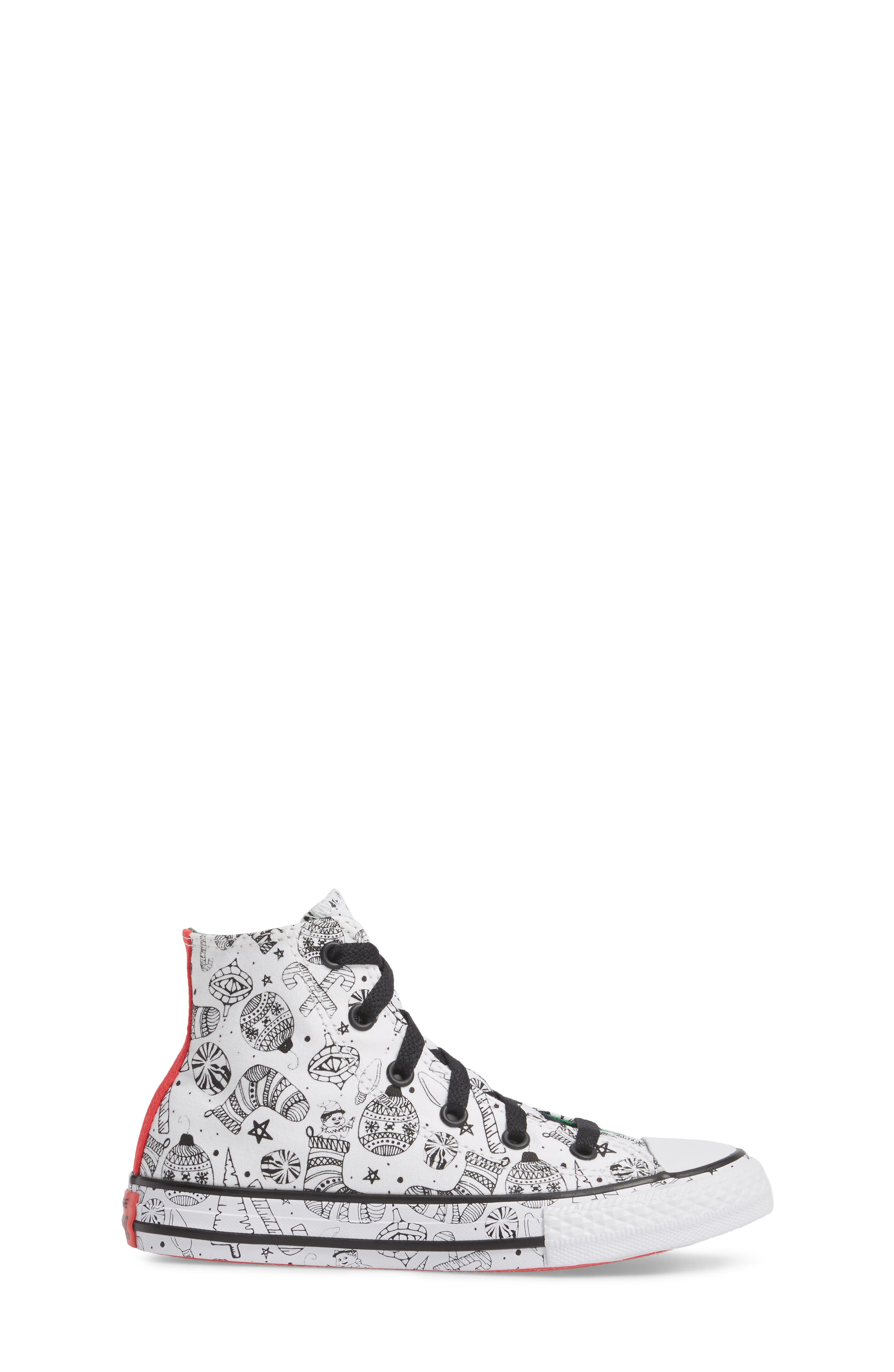 Chuck Taylor<sup>®</sup> All Star<sup>®</sup> Christmas Coloring Book High Top Sneaker,                             Alternate thumbnail 3, color,