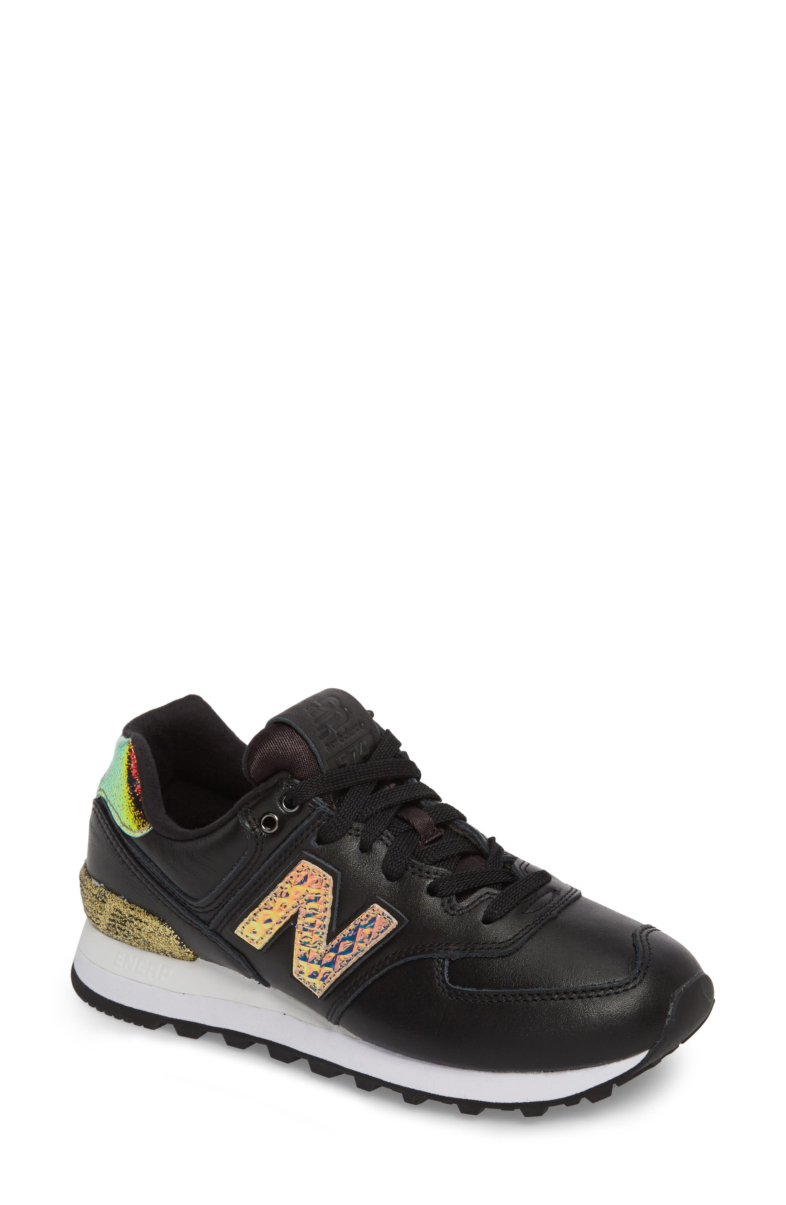 574 Glitter Punk Sneaker,                         Main,                         color, 001