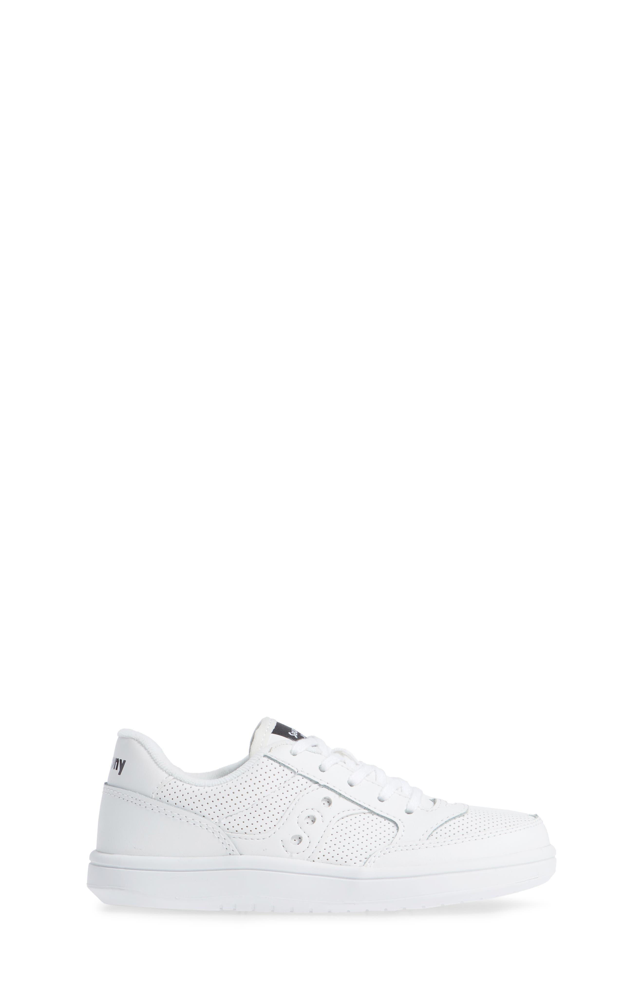 Jazz Court Sneaker,                             Alternate thumbnail 3, color,                             WHITE