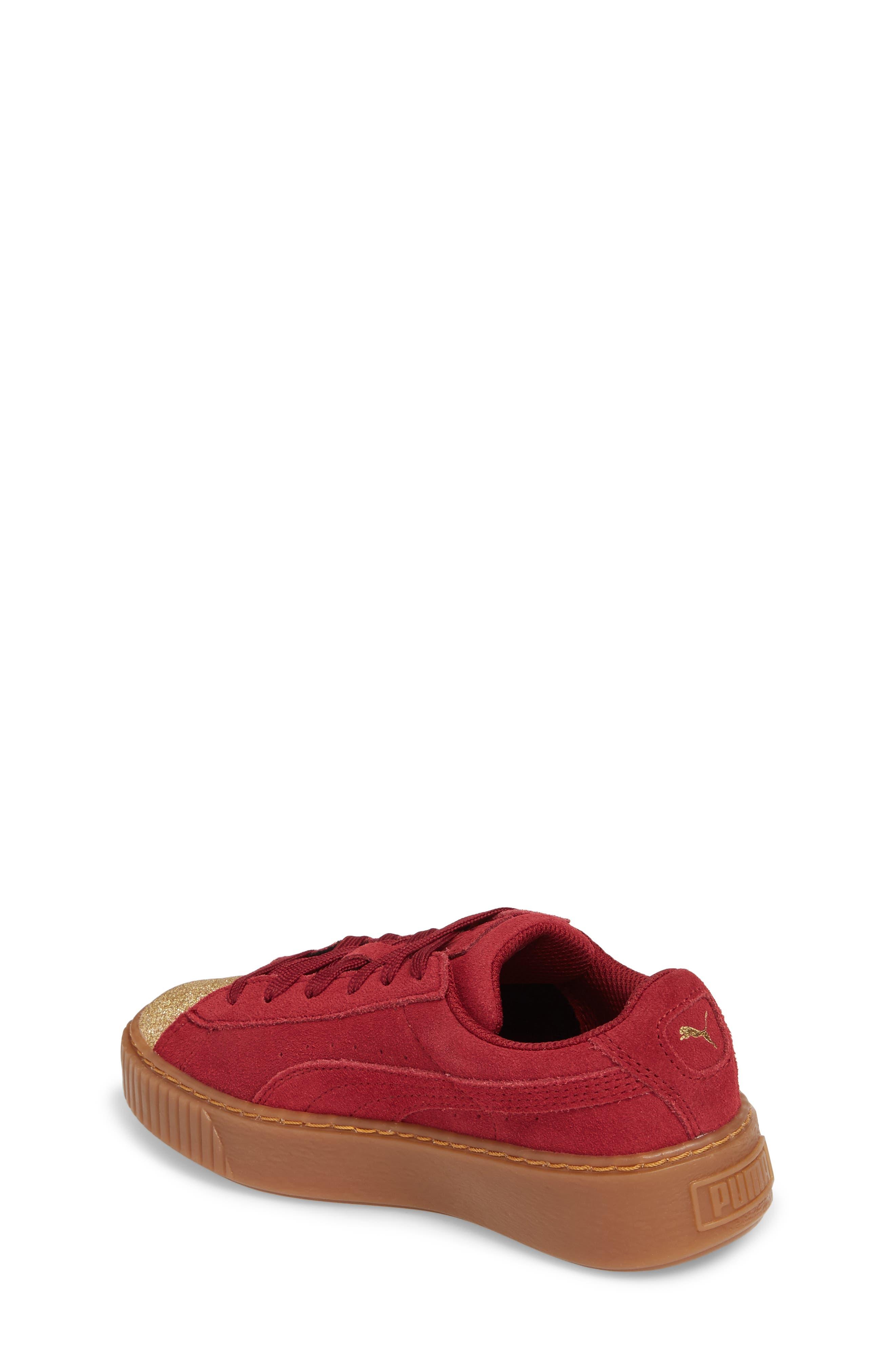 Suede Platform Glam PS Sneaker,                             Alternate thumbnail 10, color,