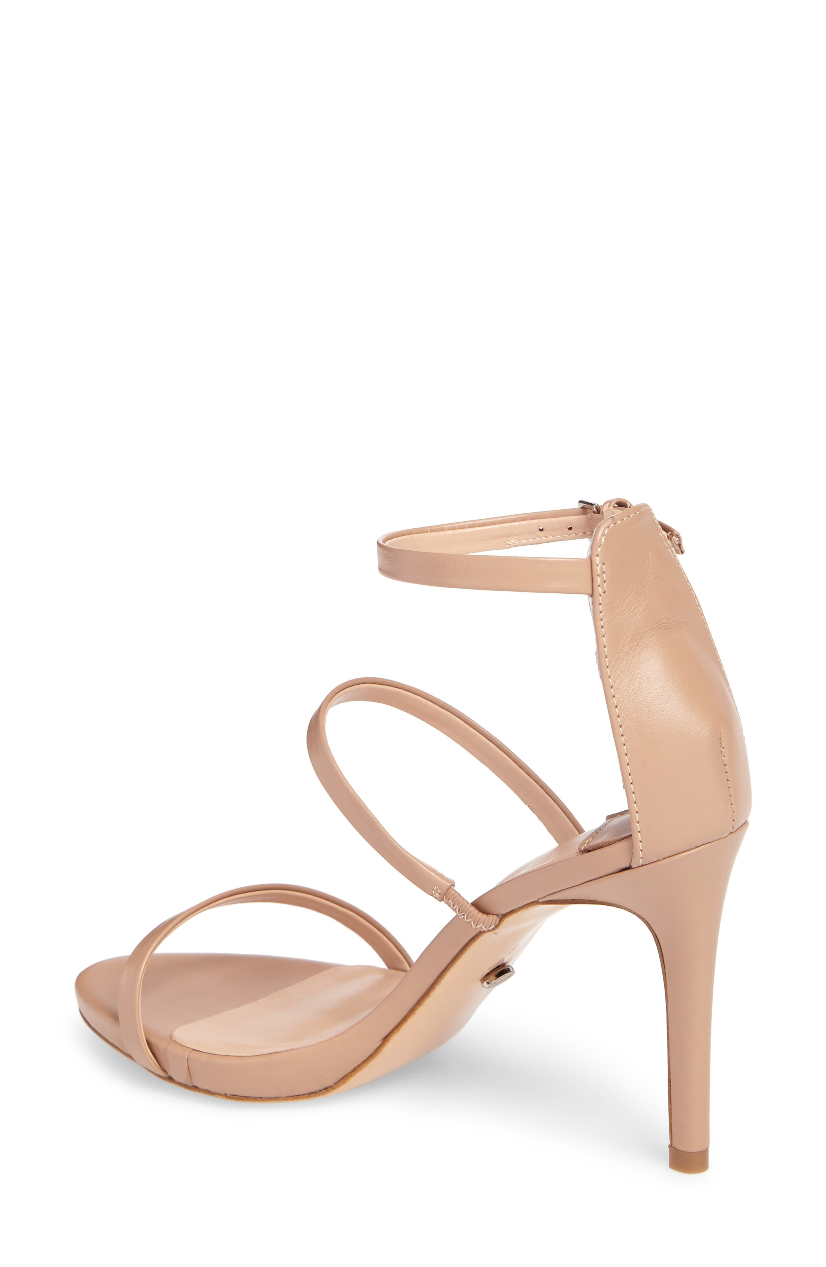 Carey Three-Strap Sandal,                             Alternate thumbnail 2, color,                             SKIN CAPRETTO LEATHER