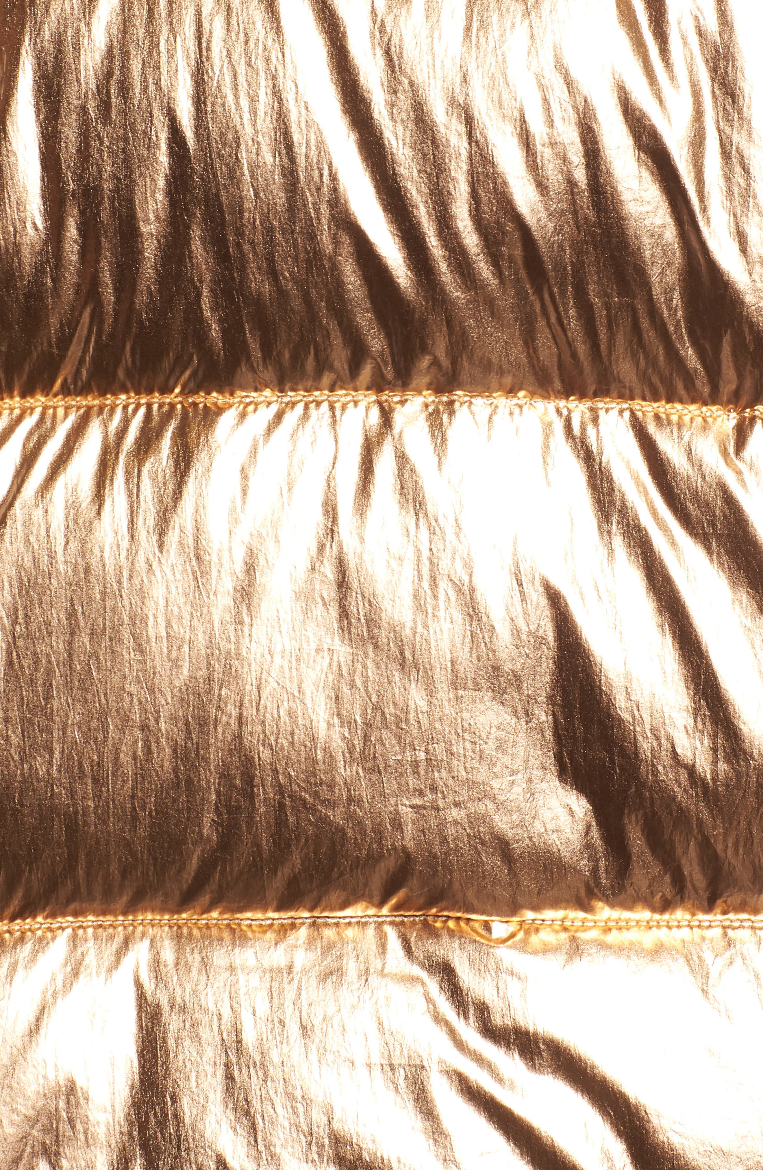 Metallic Puffer Jacket,                             Alternate thumbnail 7, color,                             COPPER