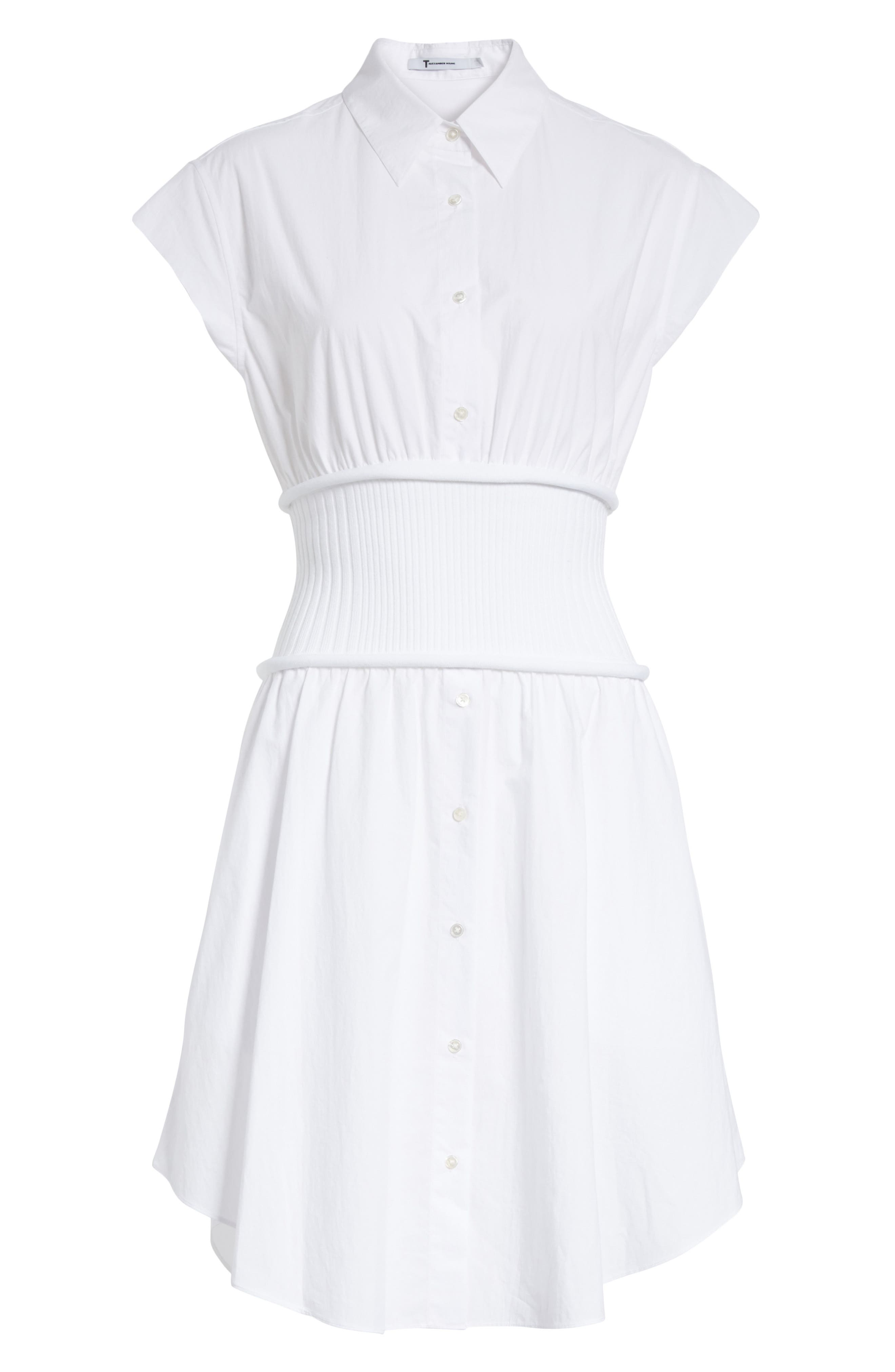 Cotton Poplin Shirtdress,                             Alternate thumbnail 6, color,                             100