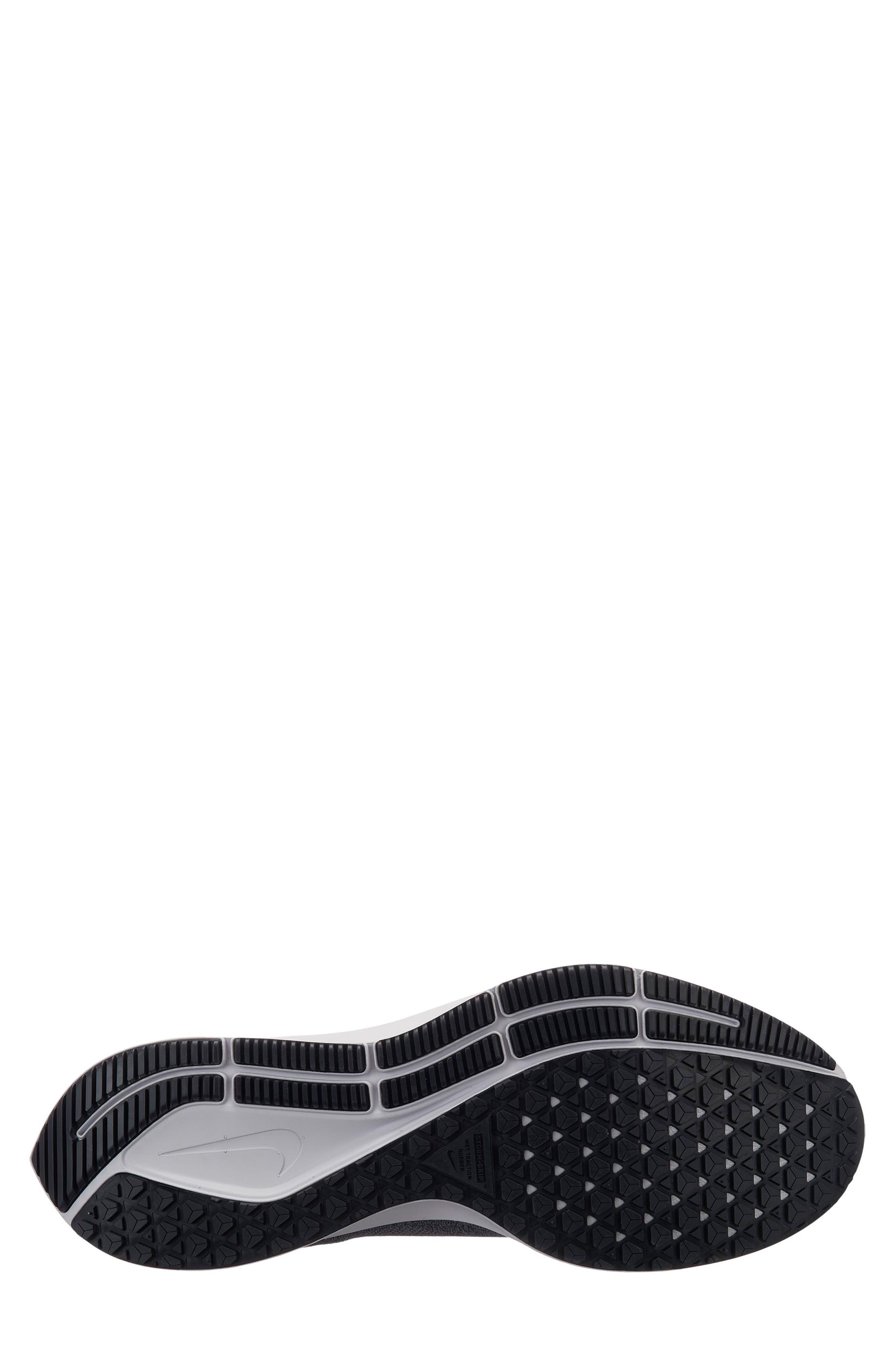 Air Zoom Pegasus 35 Shield Water Repellent Running Shoe,                             Alternate thumbnail 4, color,                             BLACK/ WHITE/ COOL GREY