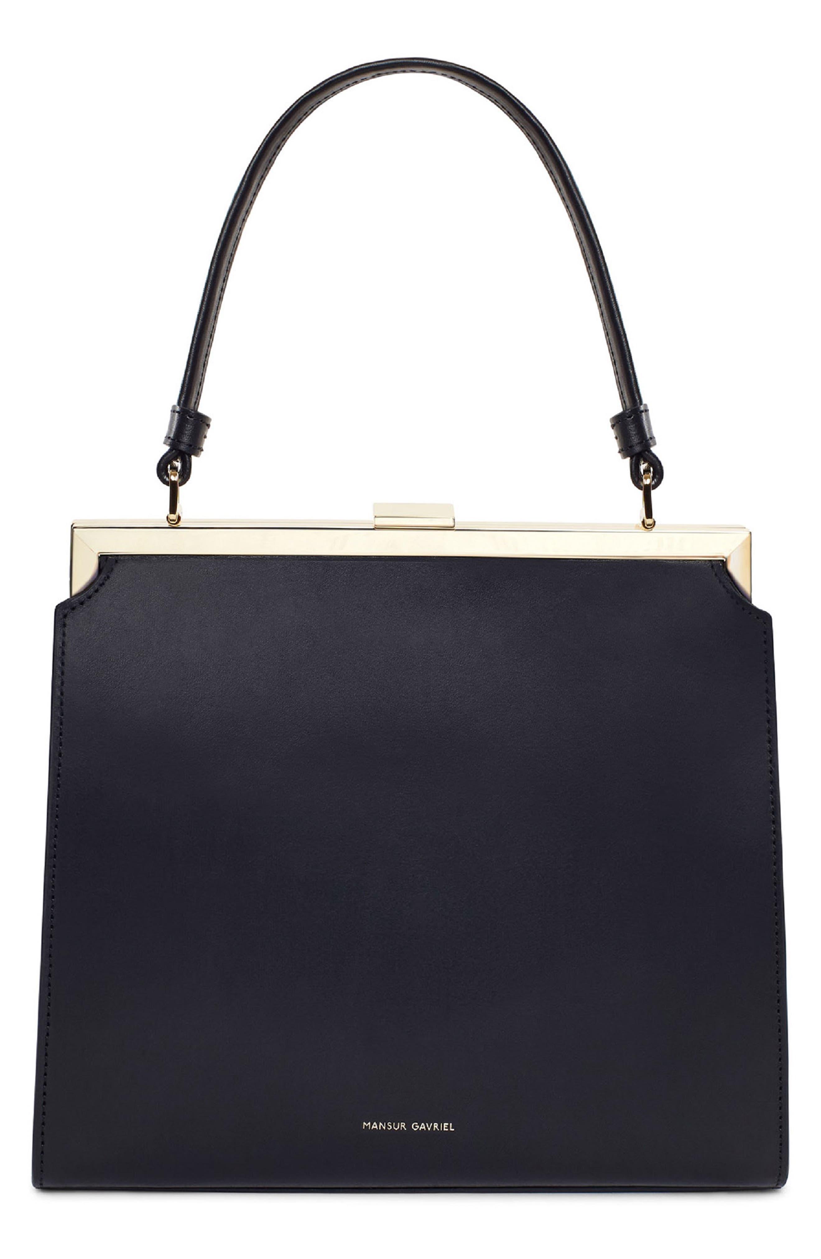 Elegant Leather Bag,                         Main,                         color, 001