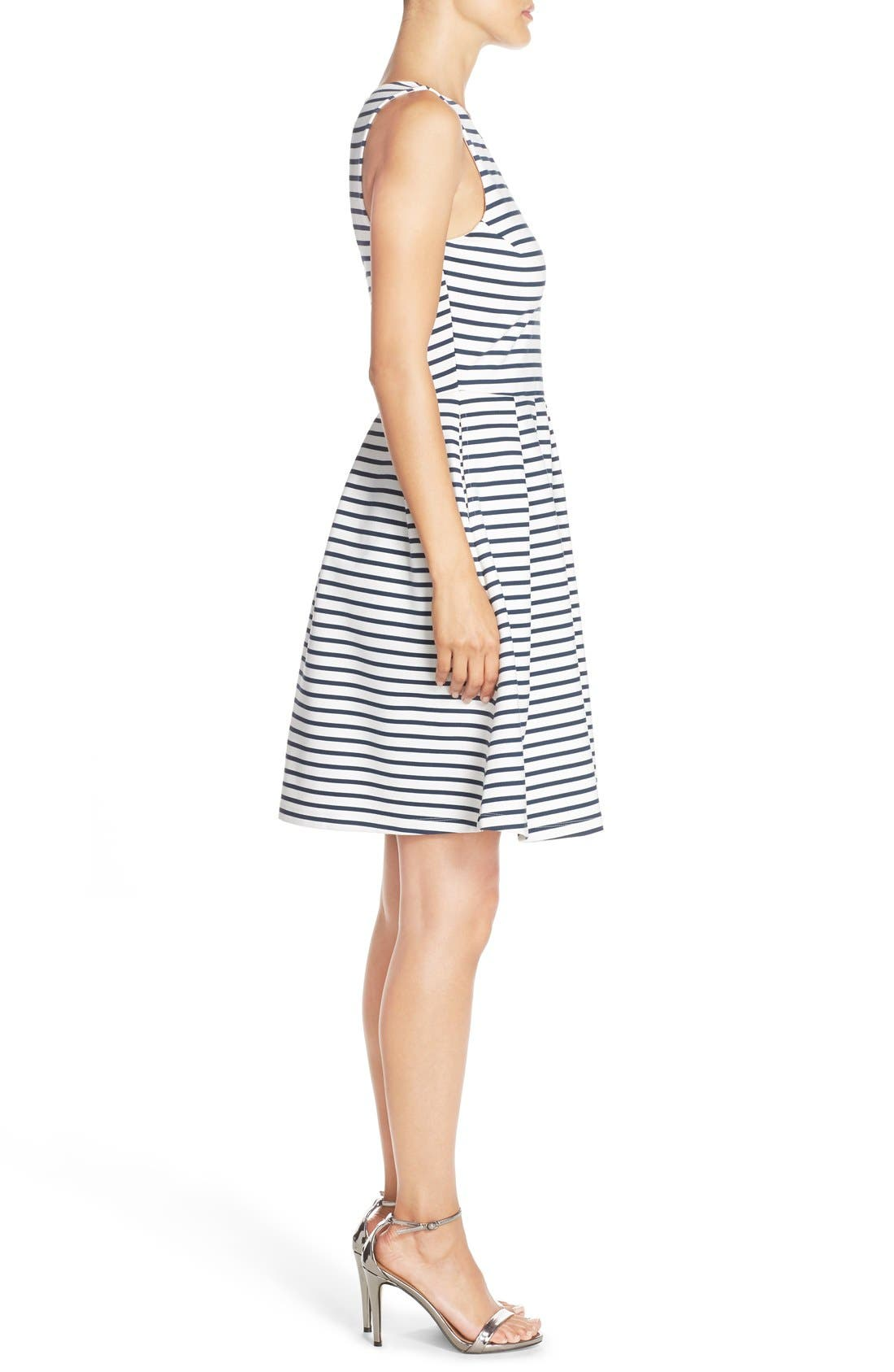 Ming Stripe Fit & Flare Dress,                             Alternate thumbnail 12, color,
