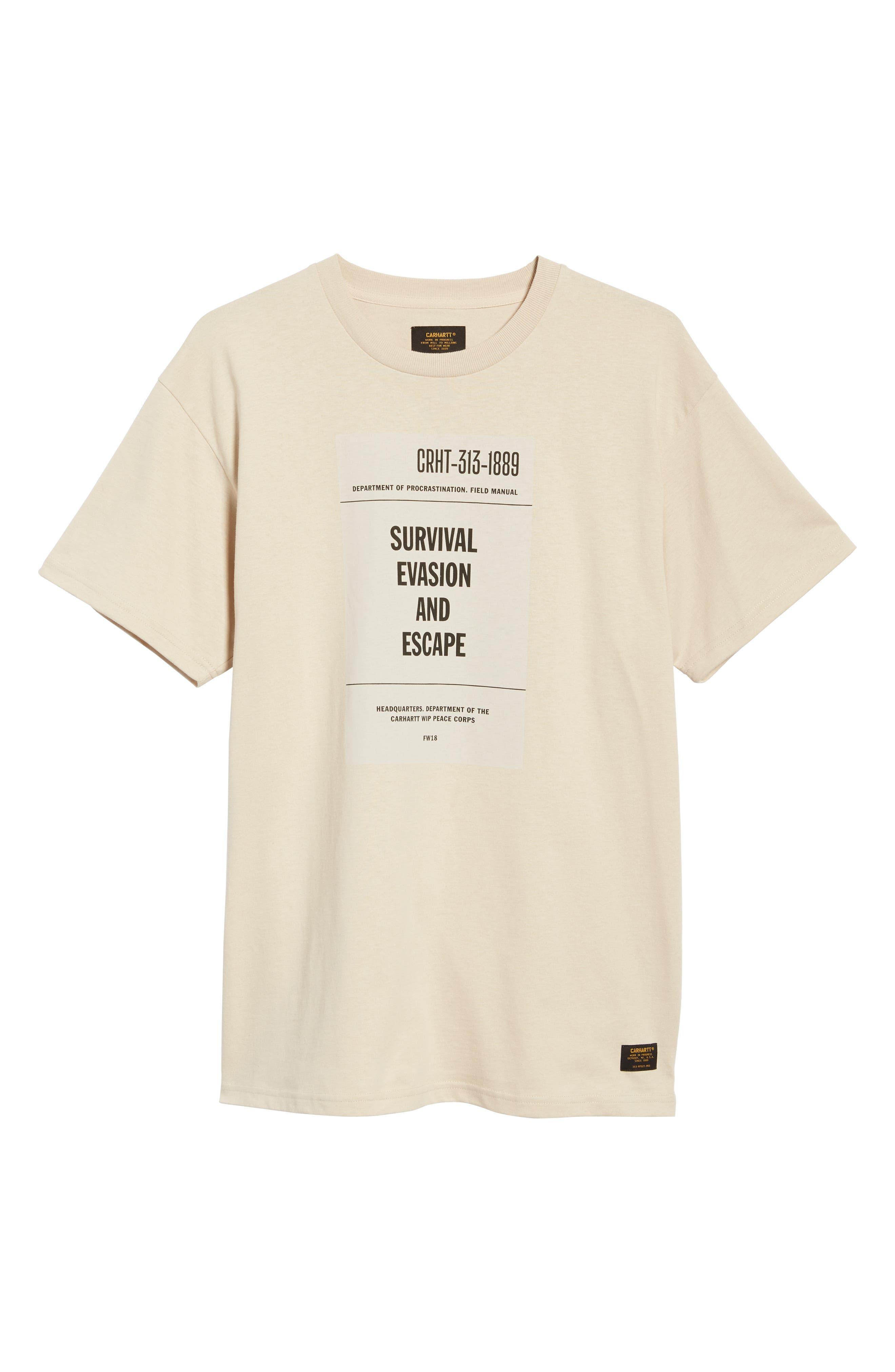 CARHARTT WORK IN PROGRESS,                             Survival Graphic T-Shirt,                             Alternate thumbnail 6, color,                             250