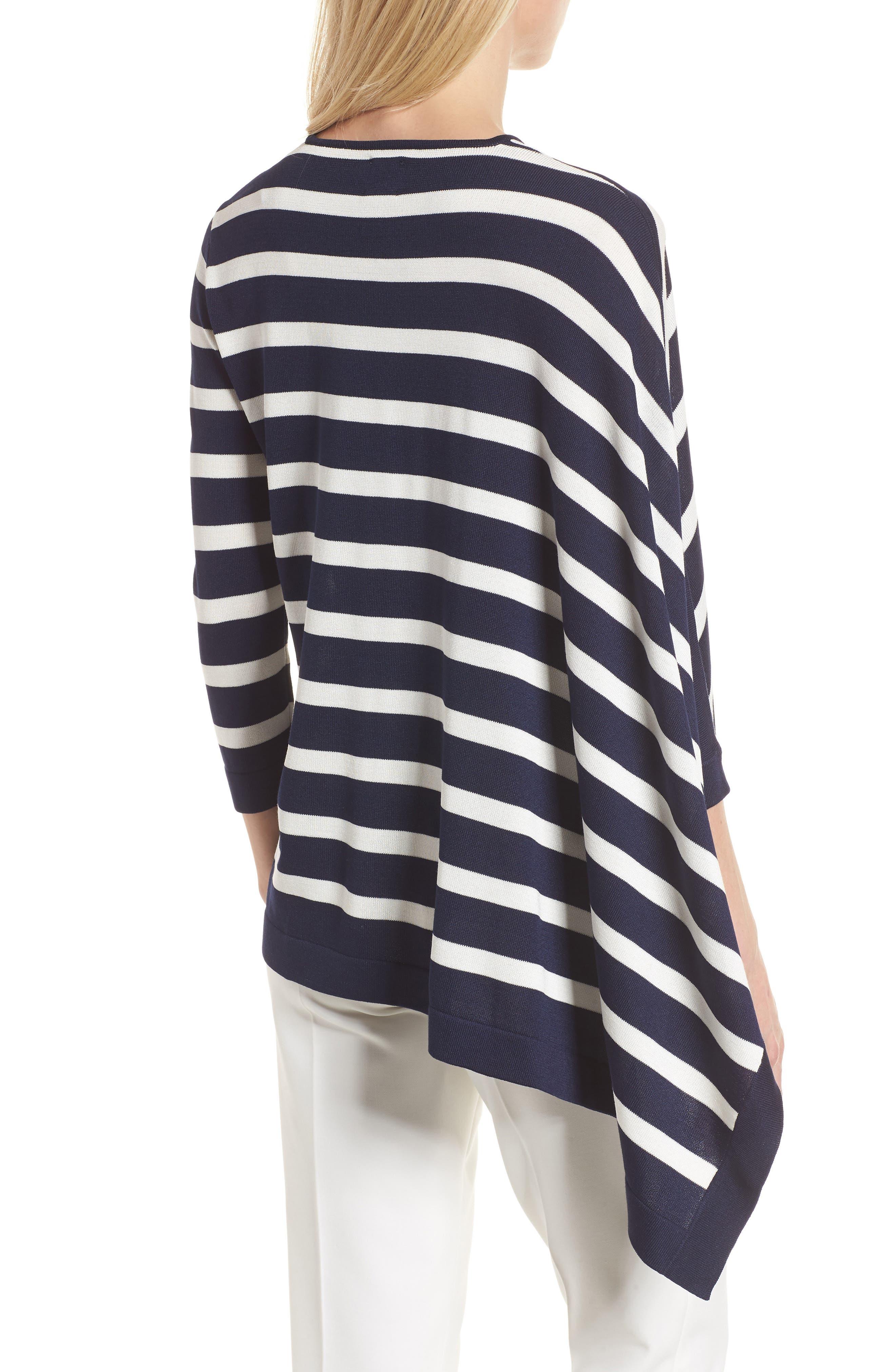 Asymmetrical Striped Sweater,                             Alternate thumbnail 4, color,