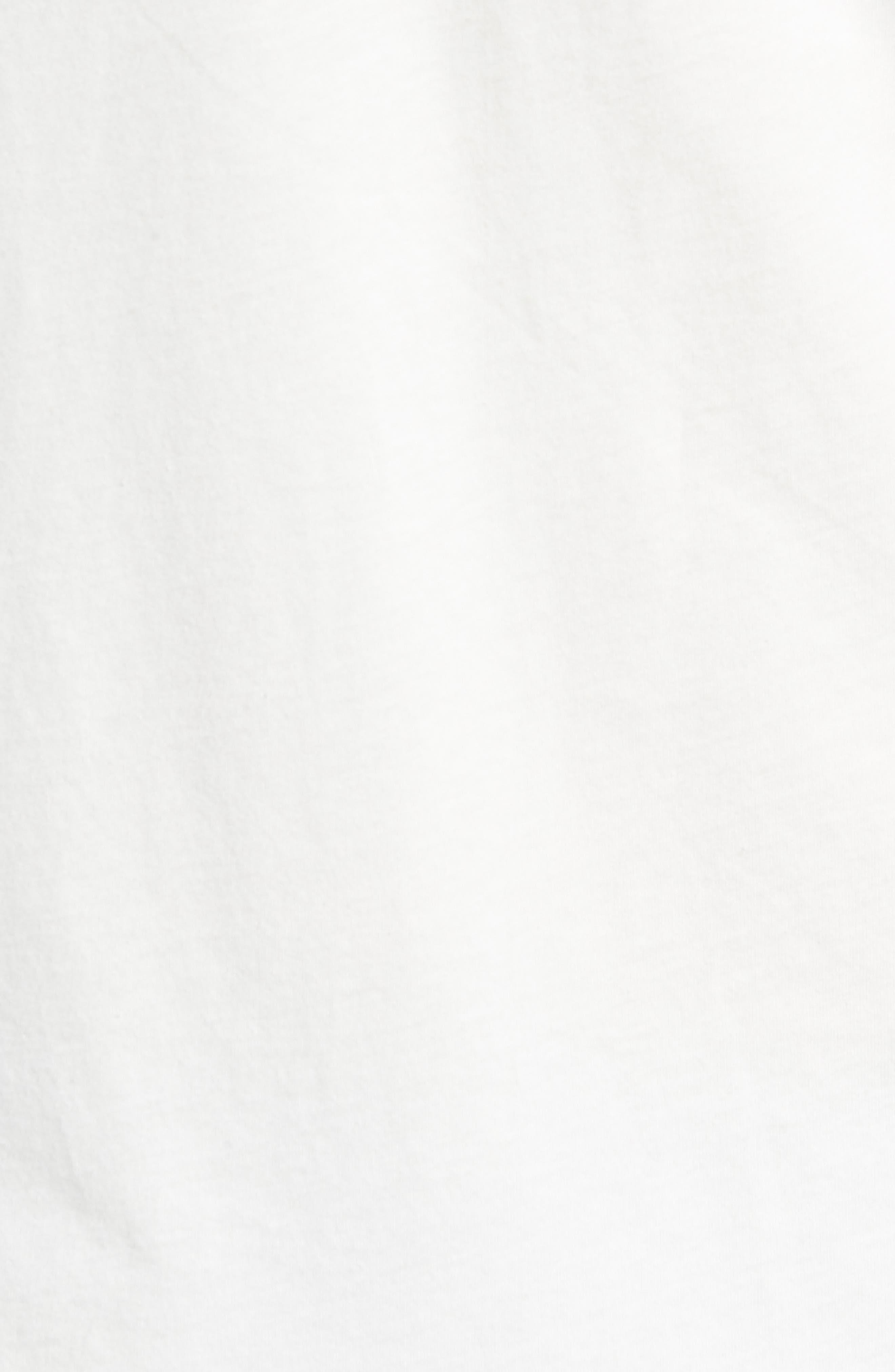 Don't Follow Crewneck T-shirt,                             Alternate thumbnail 5, color,                             CHALK WHITE