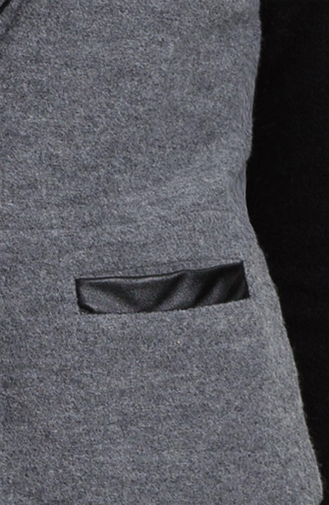 HALOGEN<SUP>®</SUP>,                             Boiled Wool Jacket,                             Alternate thumbnail 2, color,                             020