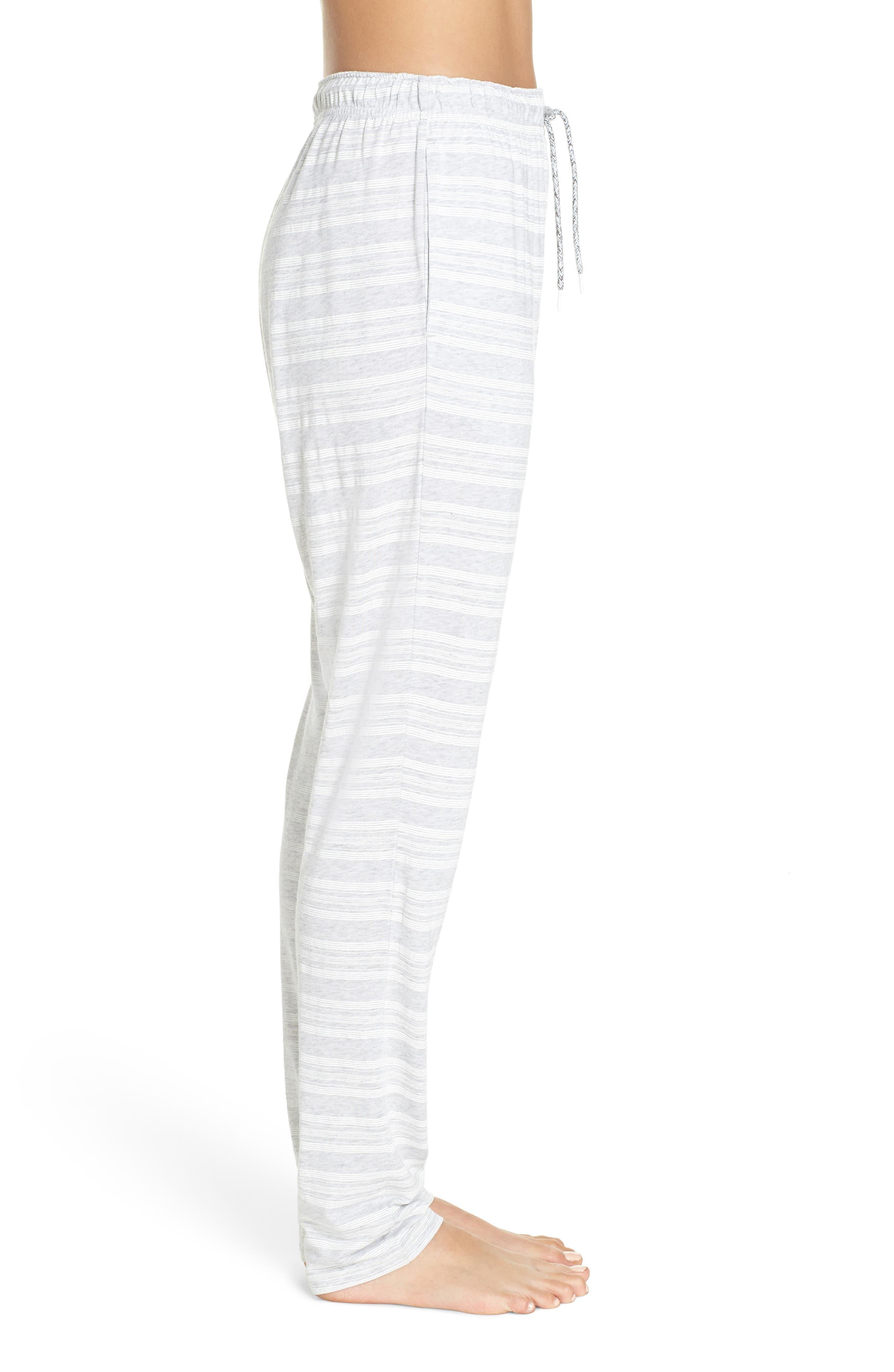 Alice Pajama Pants,                             Alternate thumbnail 3, color,                             LOLLY STRIPE WHITE