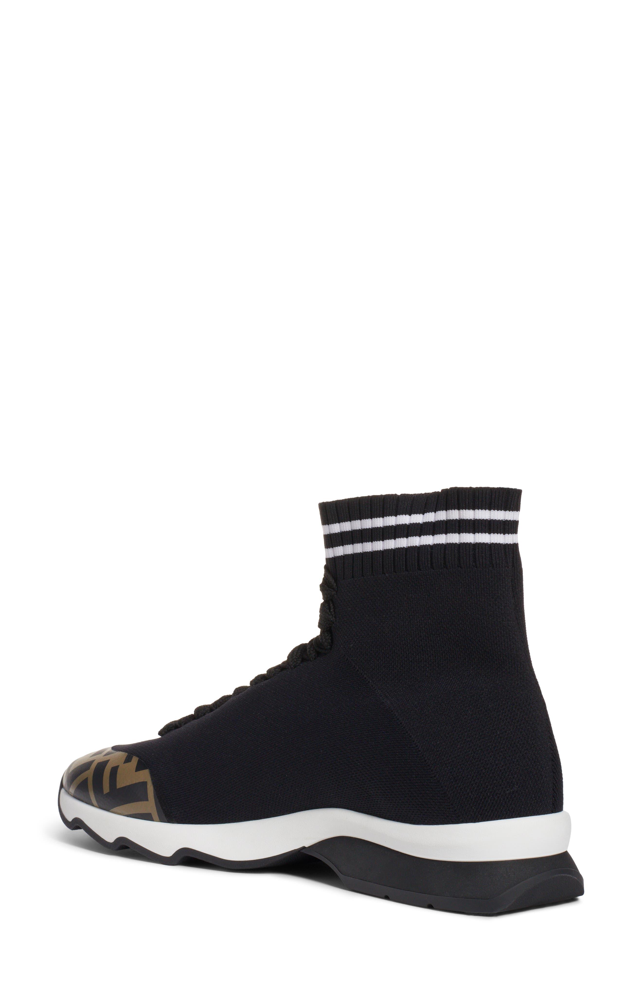 Rockotop Zucca Sock Sneaker,                             Alternate thumbnail 2, color,                             BLACK