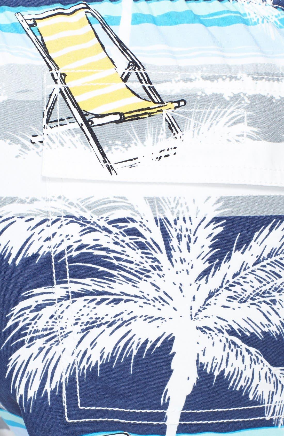 'Moorea' Beach Print Swim Trunks,                             Alternate thumbnail 3, color,                             401