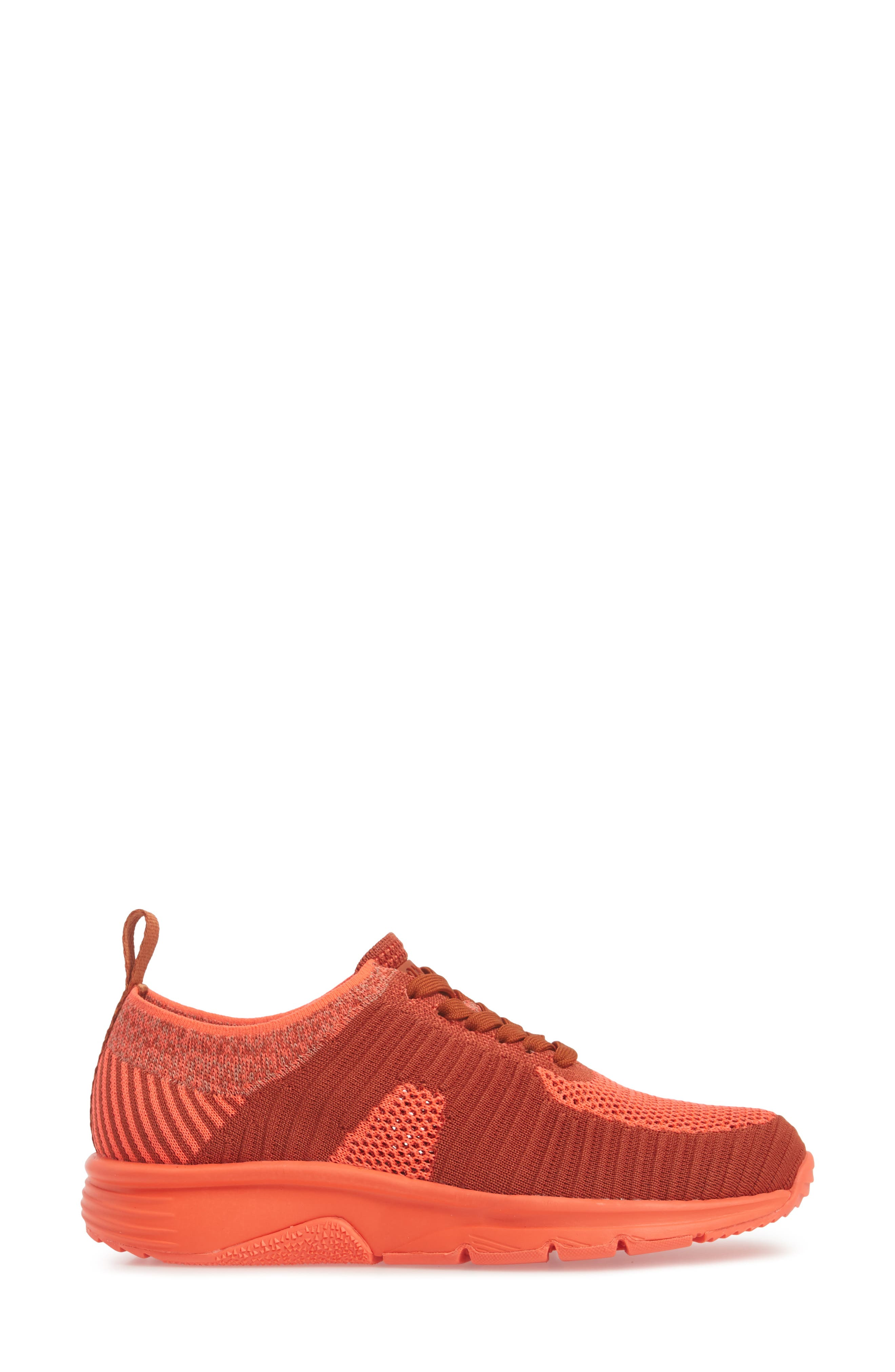 Drift Knit Sneaker,                             Alternate thumbnail 3, color,                             RED - ASSORTED FABRIC