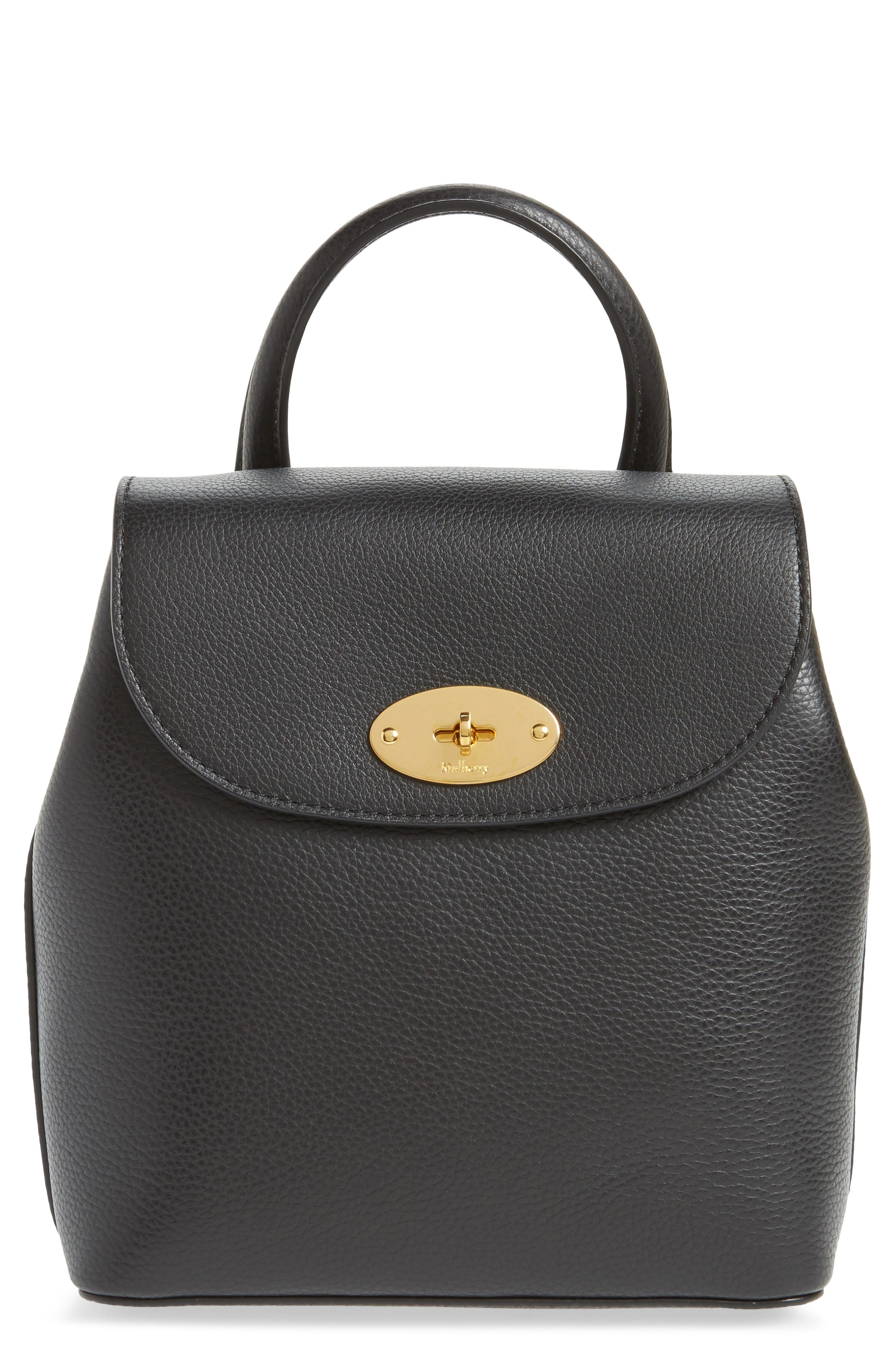 Mini Bayswater Calfskin Leather Convertible Backpack,                             Main thumbnail 1, color,                             001