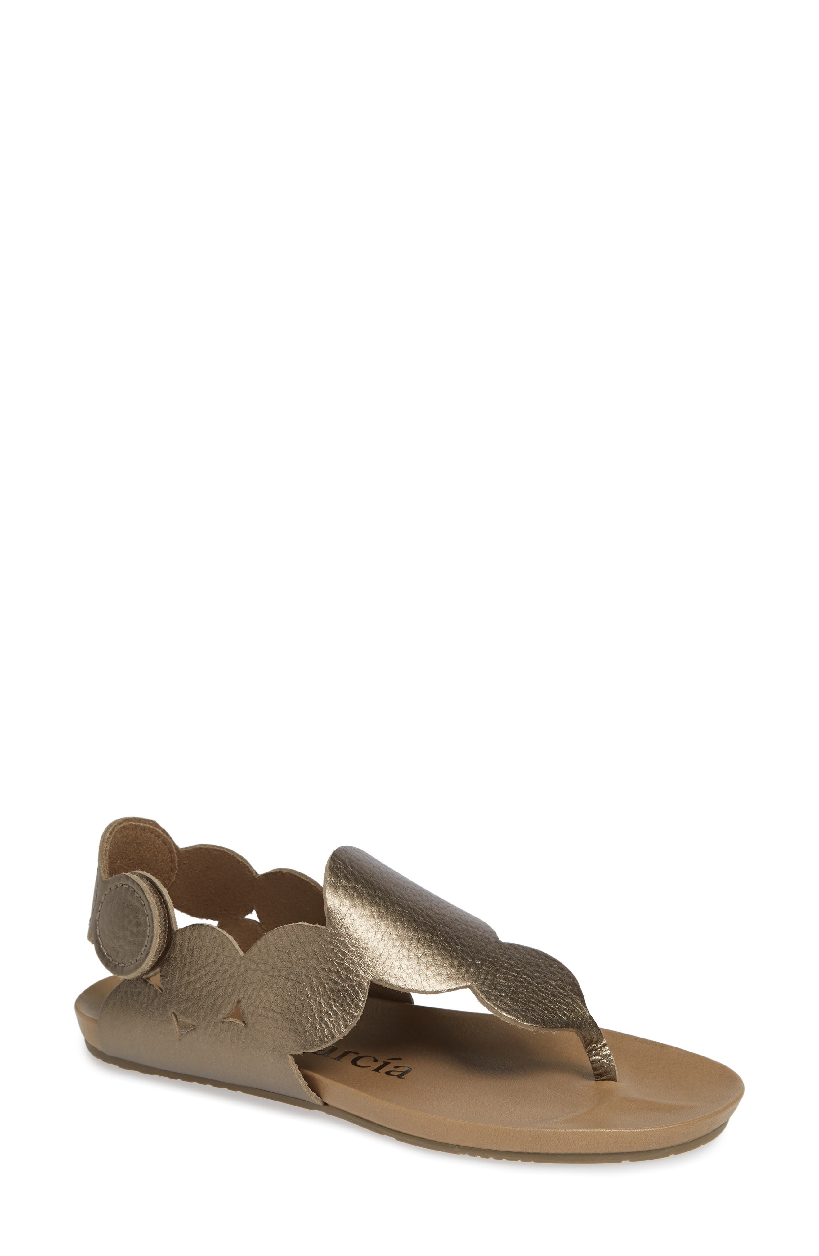Jamee Sandal,                             Main thumbnail 1, color,                             BARK CERVO LAME