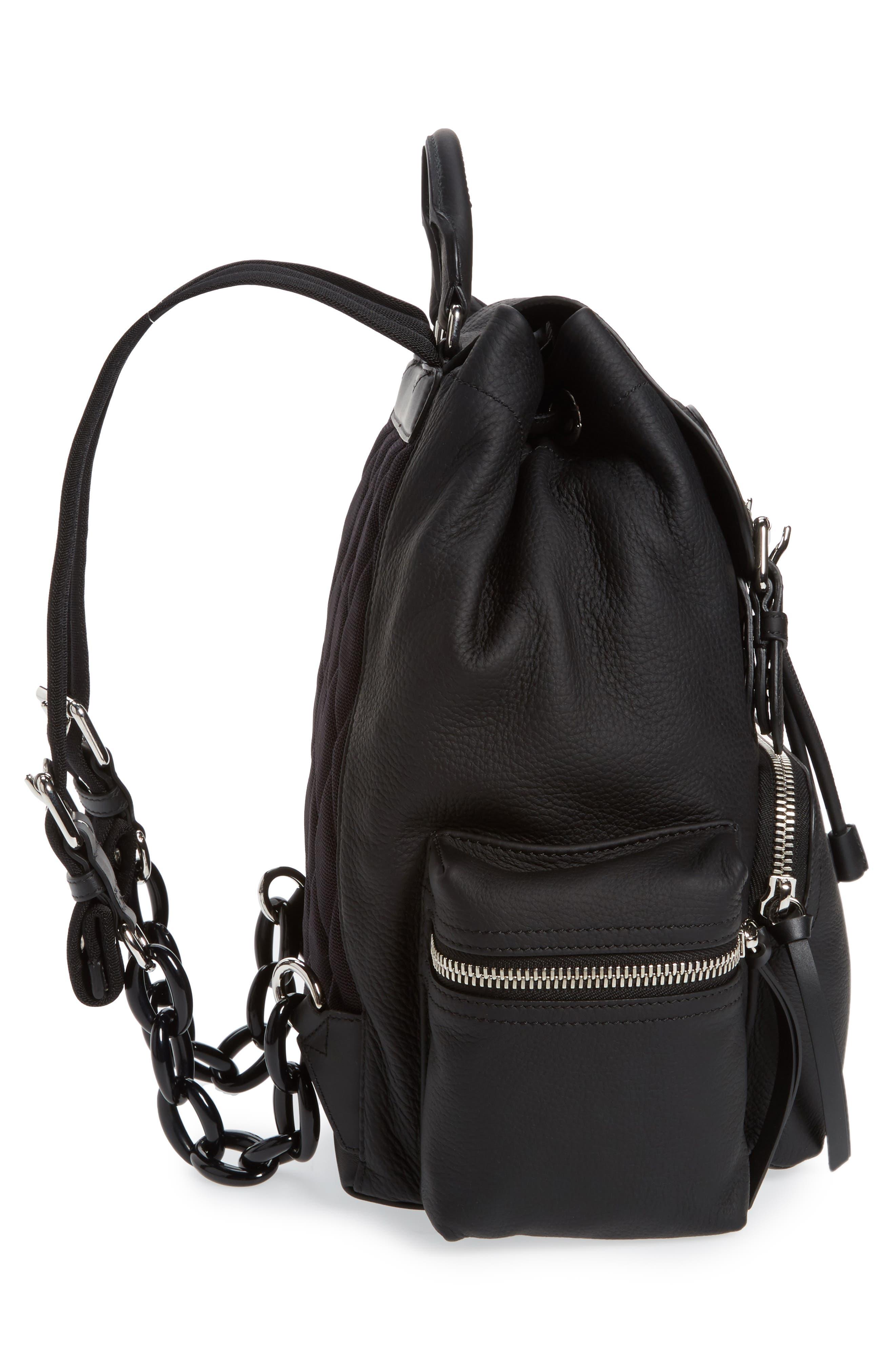 Medium Rucksack Leather Backpack,                             Alternate thumbnail 5, color,
