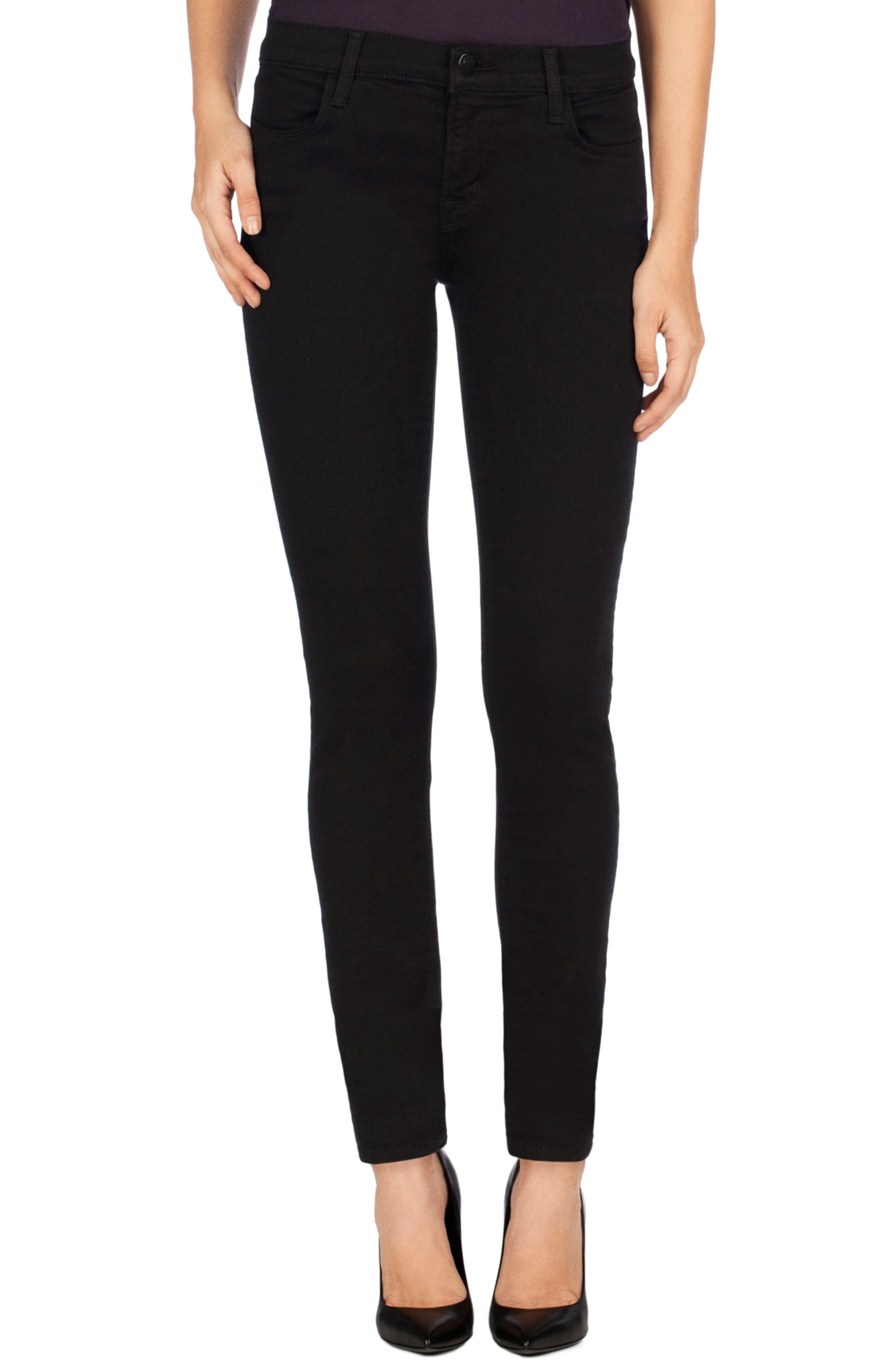 J BRAND,                             Super Skinny Jeans,                             Main thumbnail 1, color,                             SERIOUSLY BLACK
