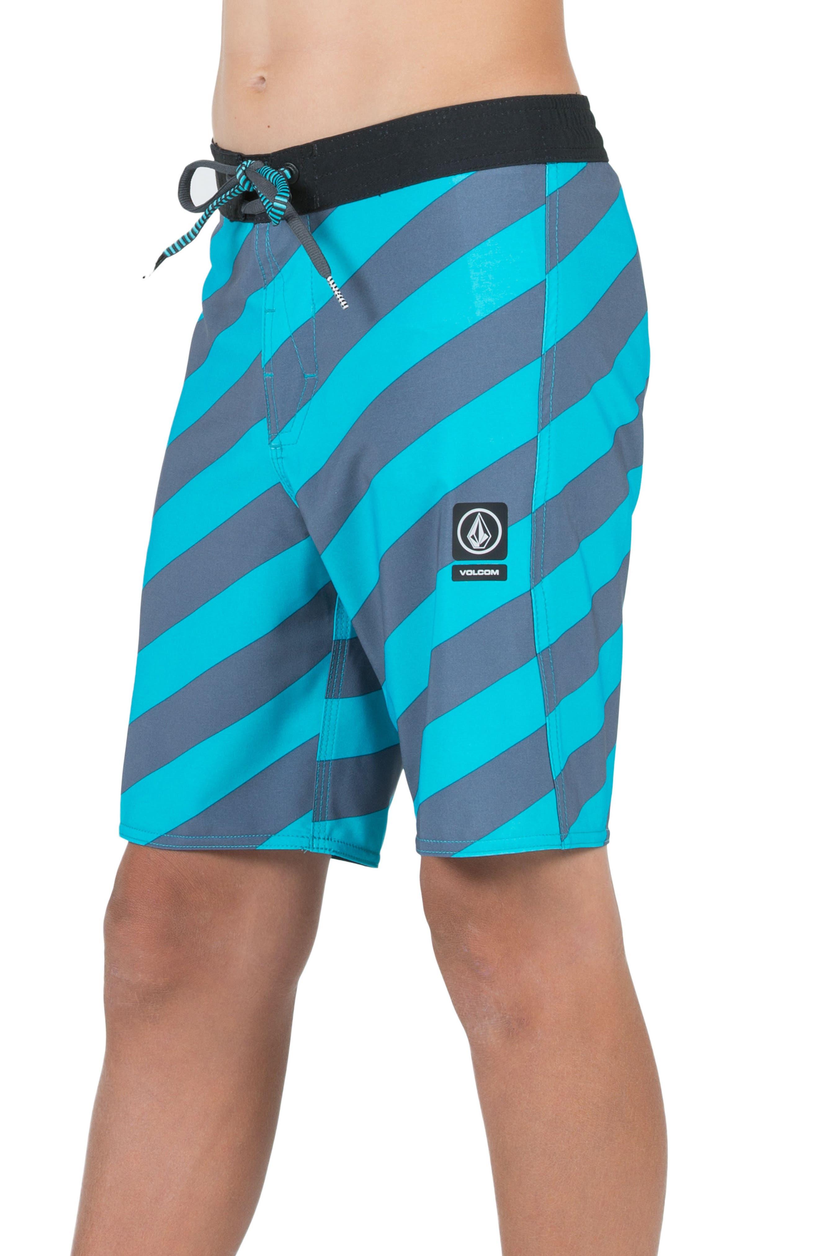 Stripey Jammer Board Shorts,                             Alternate thumbnail 19, color,