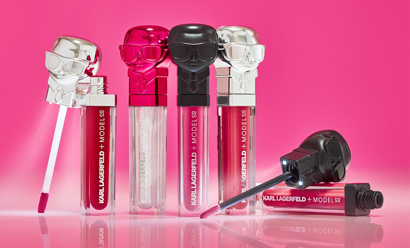 Karl Lagerfeld and ModelCo present an exclusive collection for eyes, lips and face.
