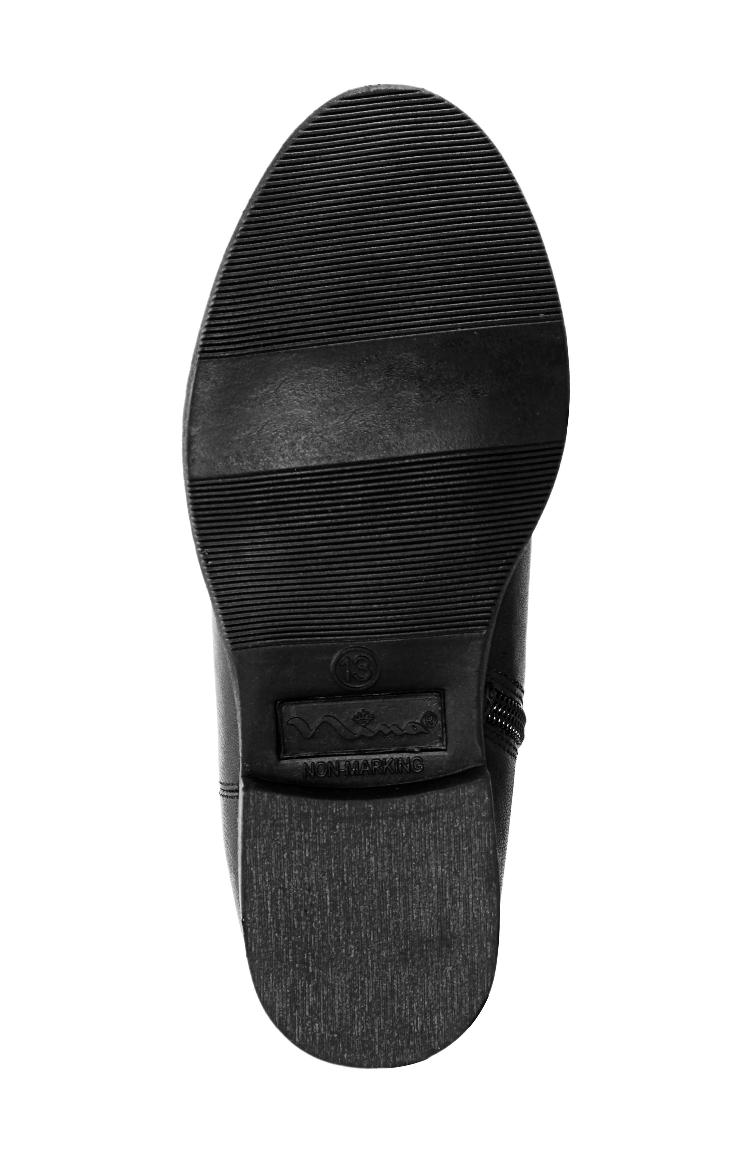 Emerie Block Heel Bootie,                             Alternate thumbnail 6, color,                             BLACK SMOOTH