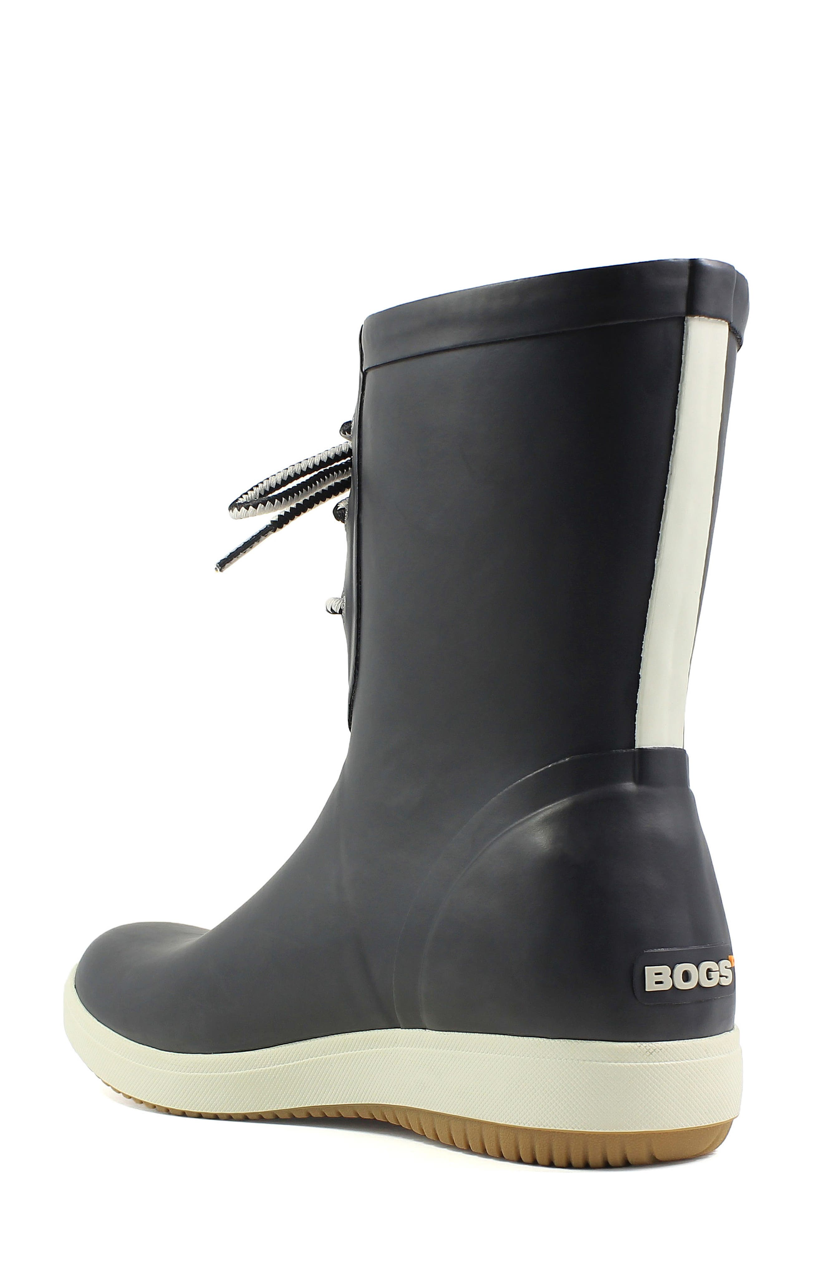 Quinn Lace-Up Rain Boot,                             Alternate thumbnail 2, color,                             001