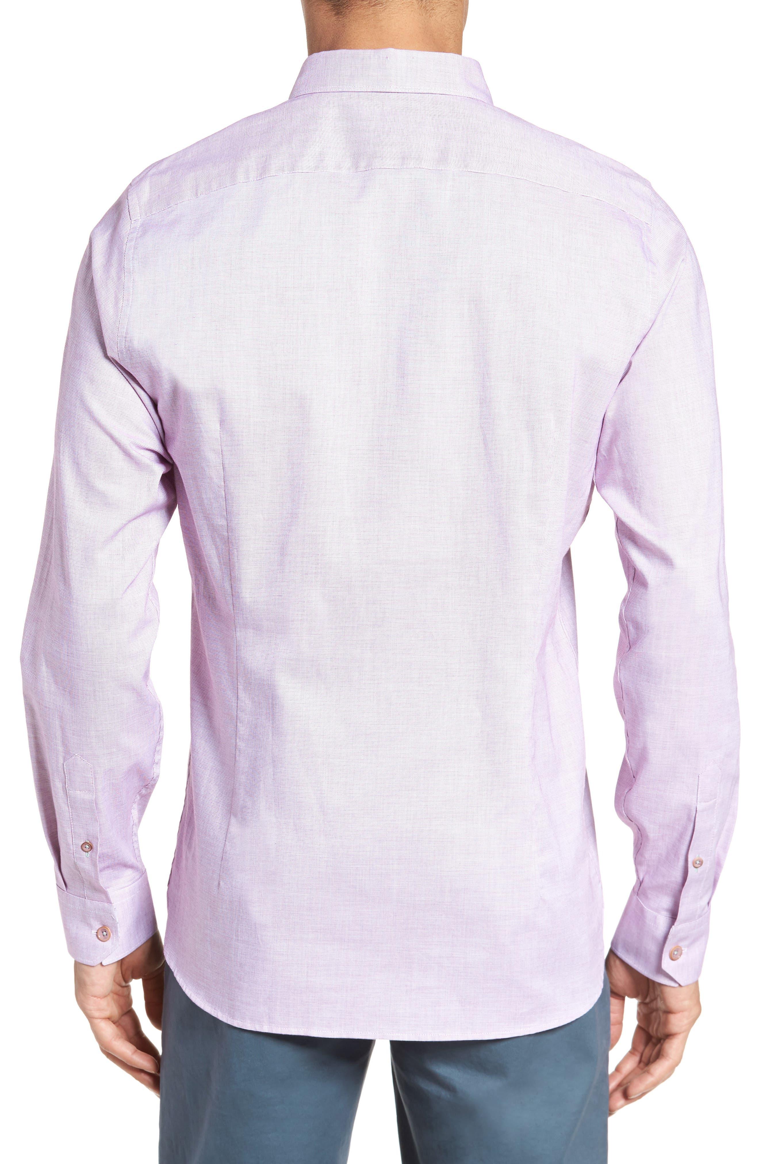 Slim Fit Textured Sport Shirt,                             Alternate thumbnail 9, color,
