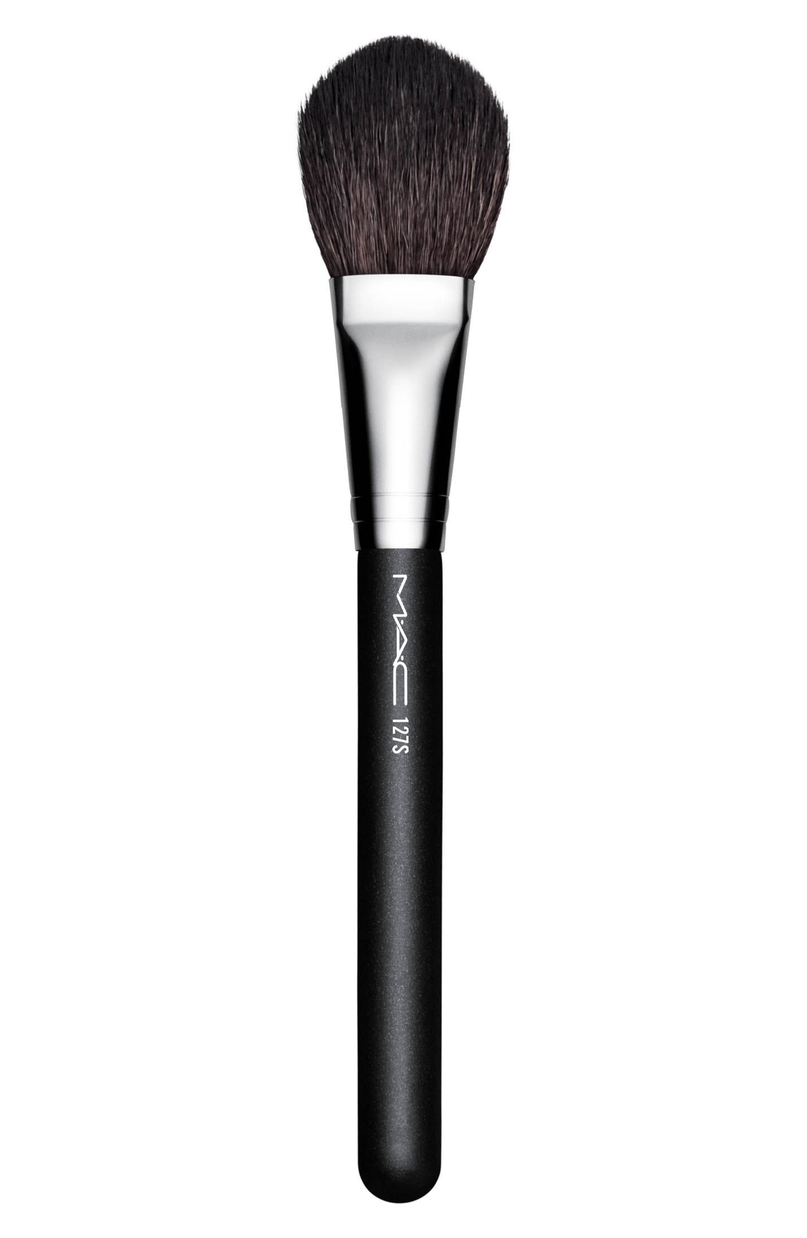 MAC 127S Synthetic Split Fibre Face Brush,                             Main thumbnail 1, color,                             NO COLOR