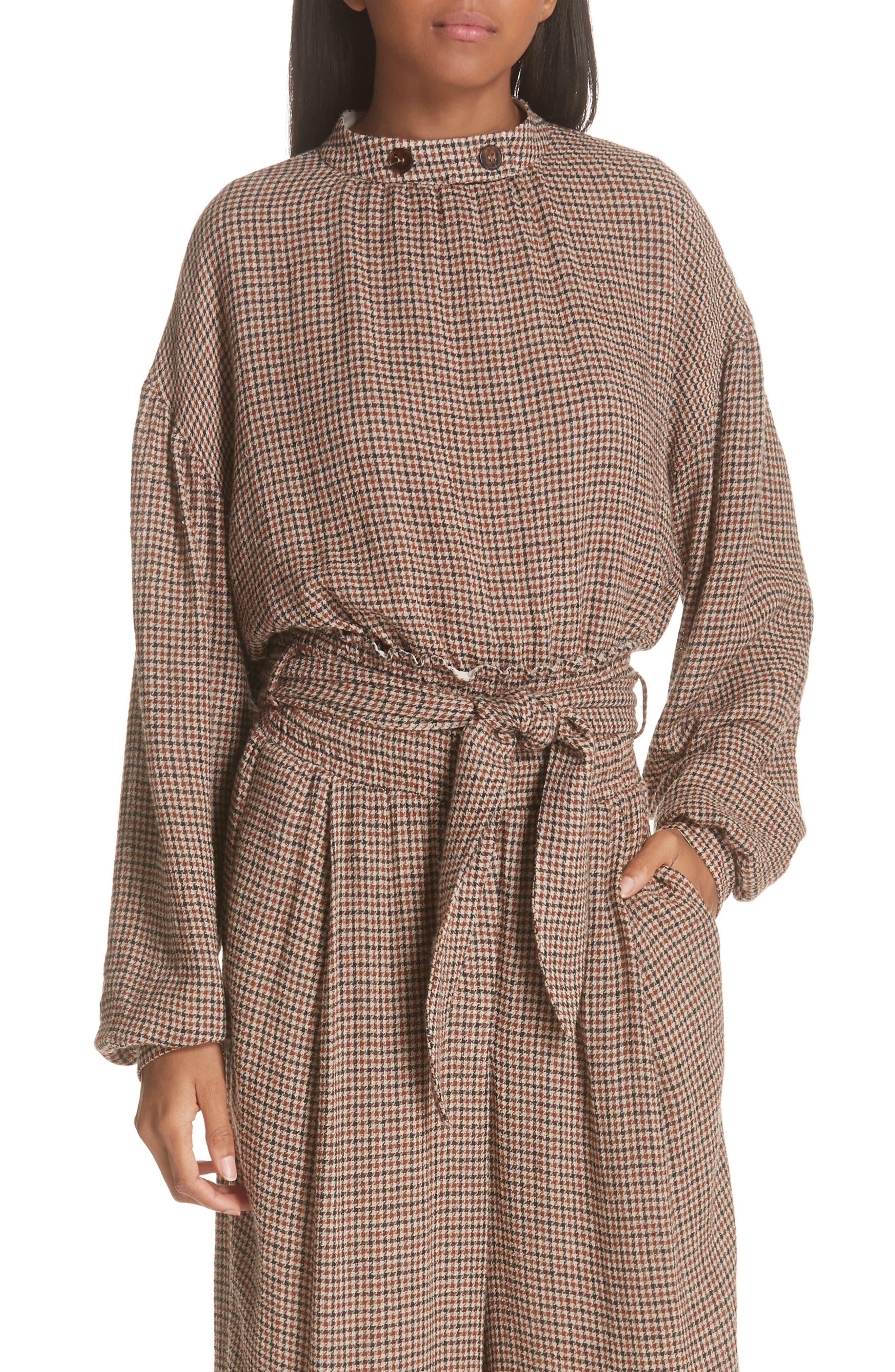Amara Puff Sleeve Blouse,                         Main,                         color, CHECK