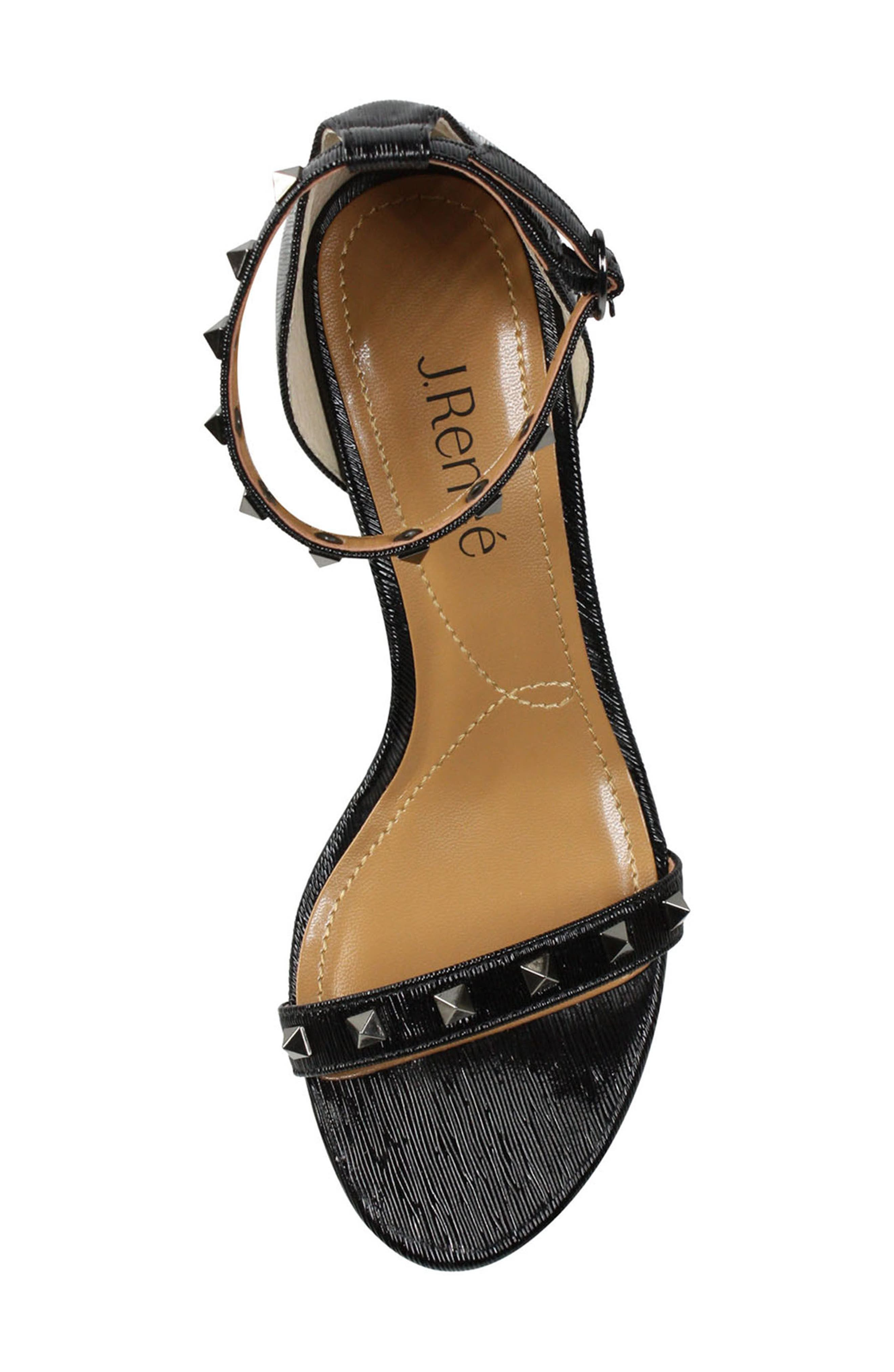 Lerida Studded Ankle Strap Sandal,                             Alternate thumbnail 3, color,                             001