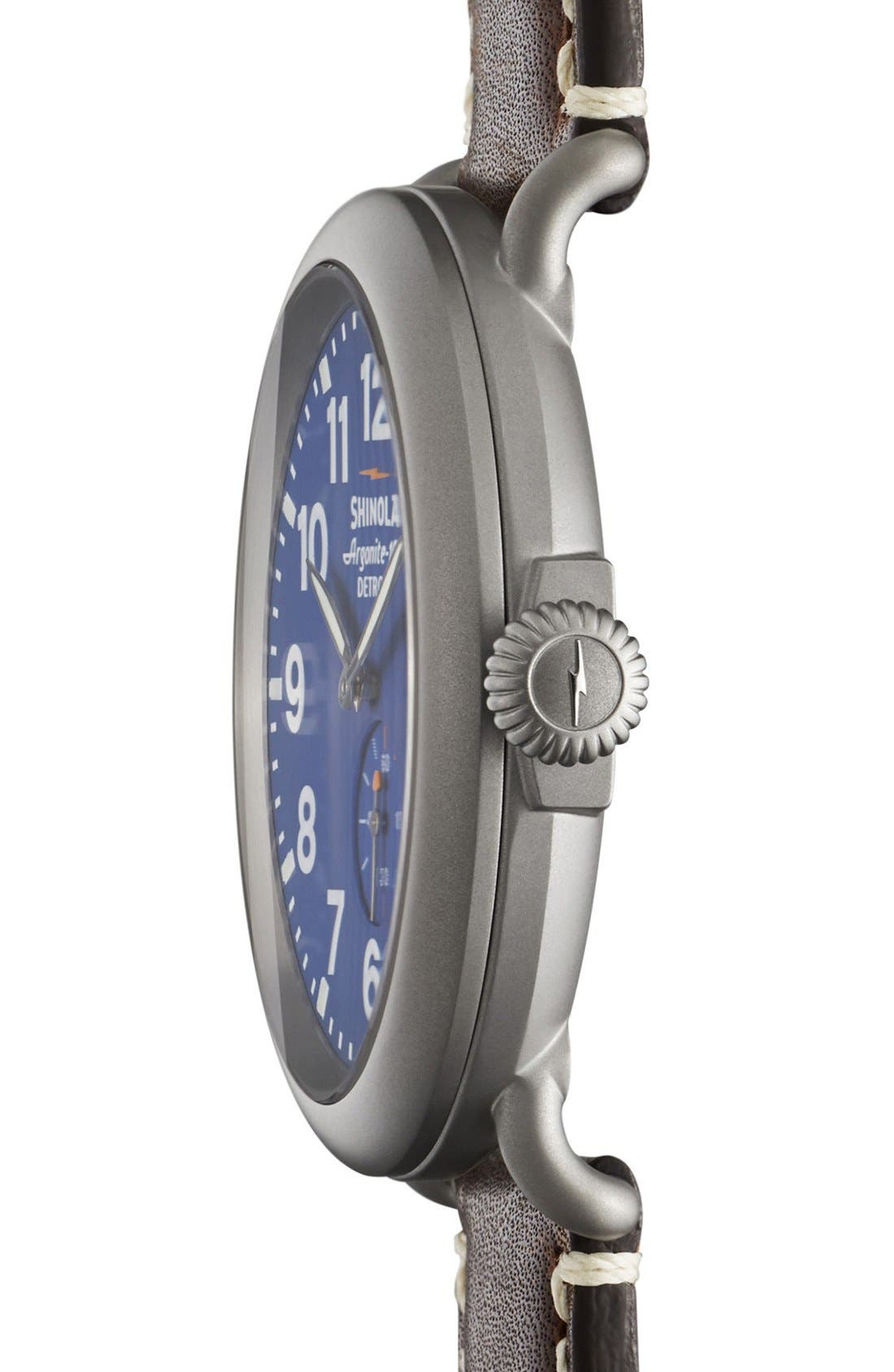 'The Runwell' Leather Strap Watch, 47mm,                             Alternate thumbnail 22, color,