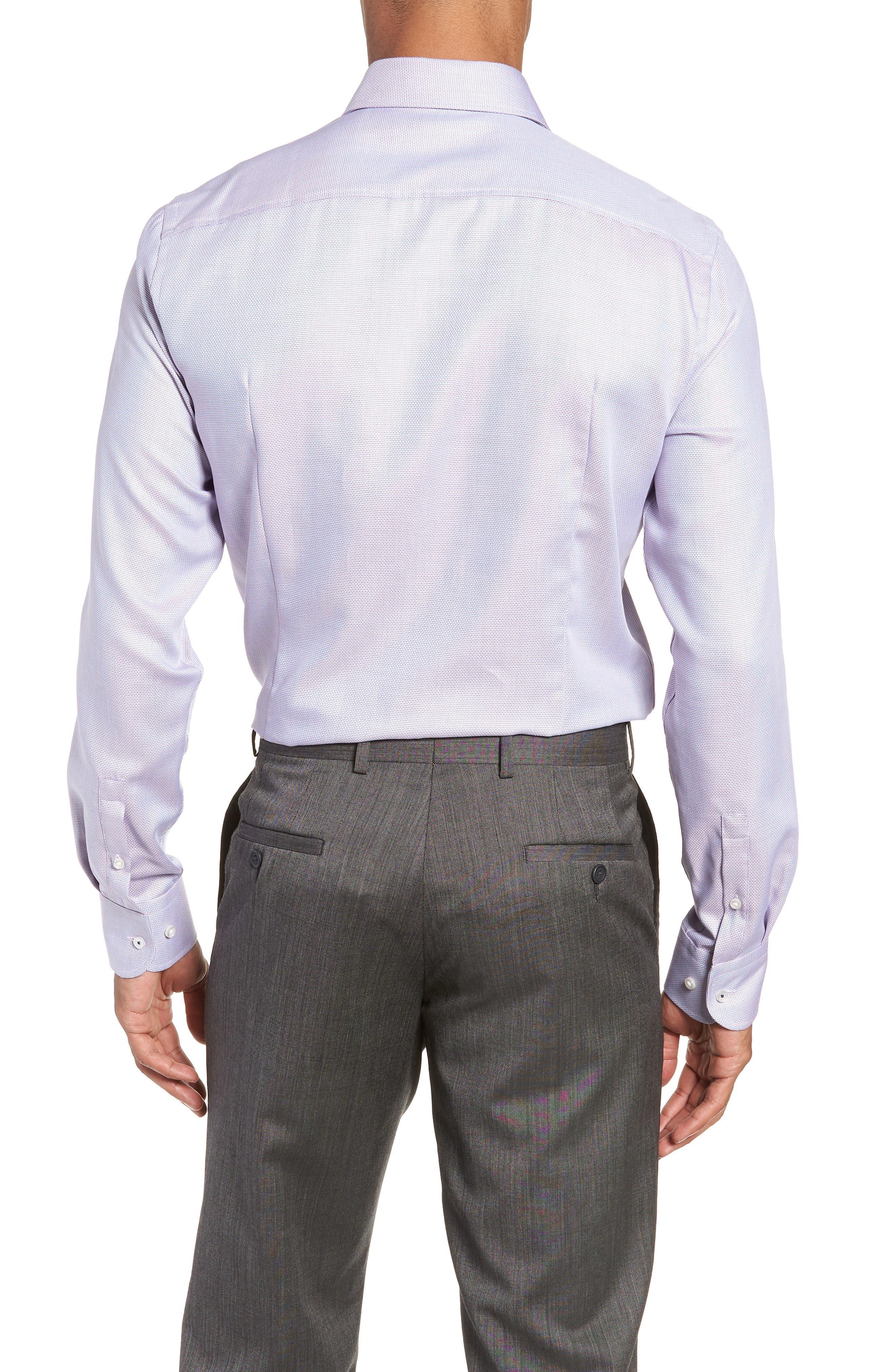 x Nordstrom Jerrin Slim Fit Solid Dress Shirt,                             Alternate thumbnail 3, color,                             LAVENDER