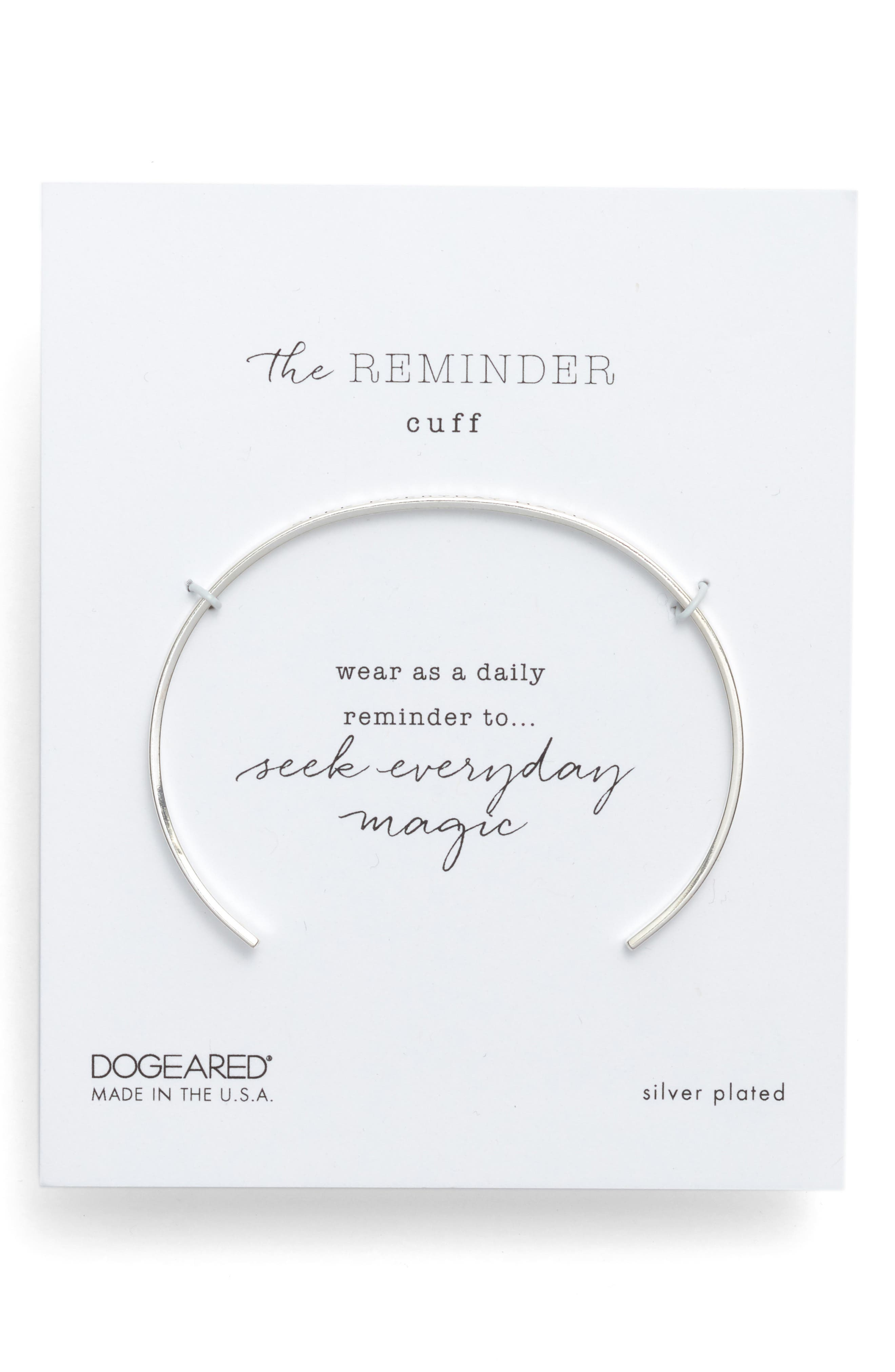 DOGEARED Seek Everyday Magic Thin Cuff Bracelet in Sterling Silver