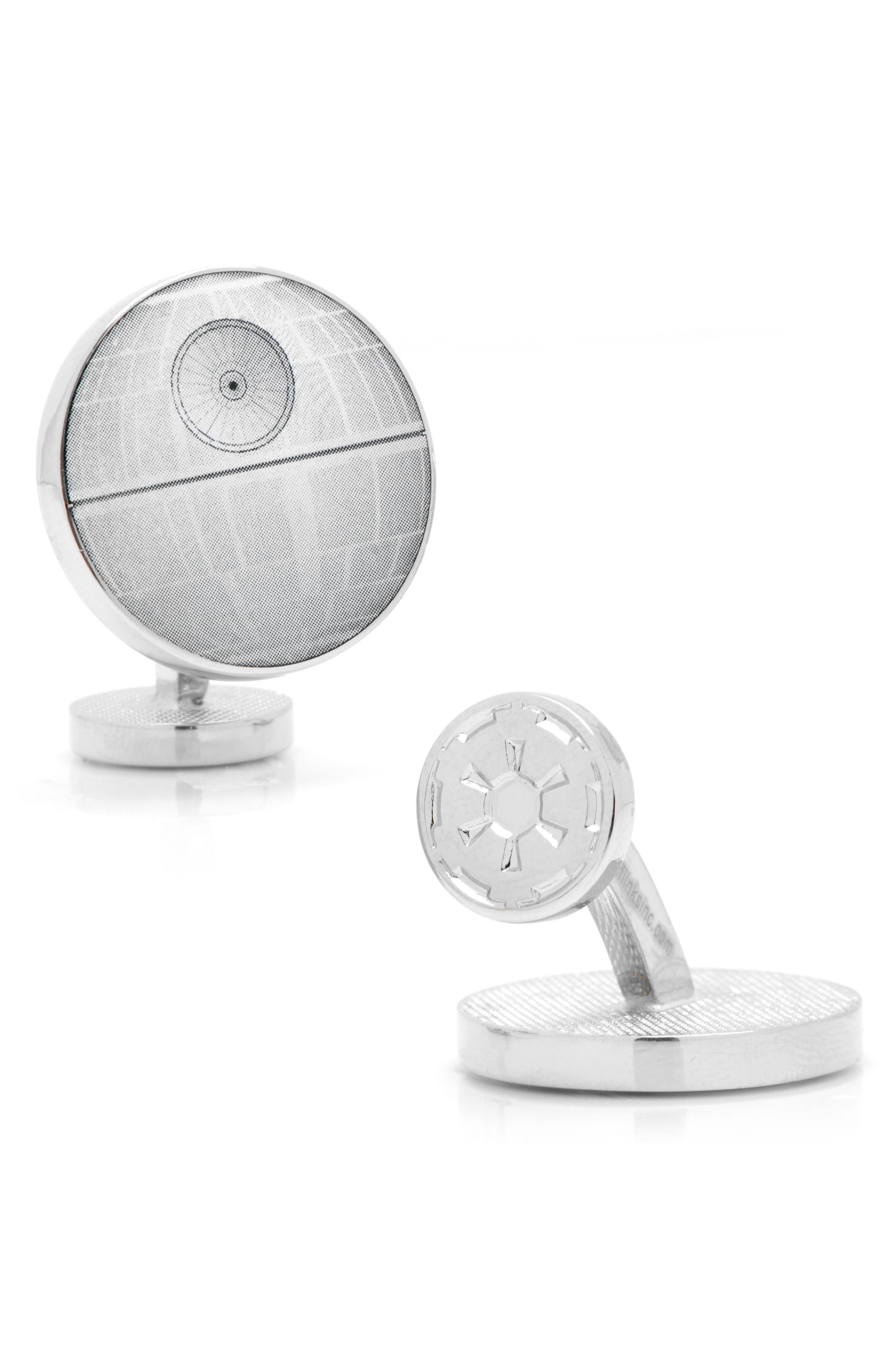 'Star Wars<sup>™</sup> - Death Star Blueprint' Cuff Links,                             Alternate thumbnail 2, color,                             020